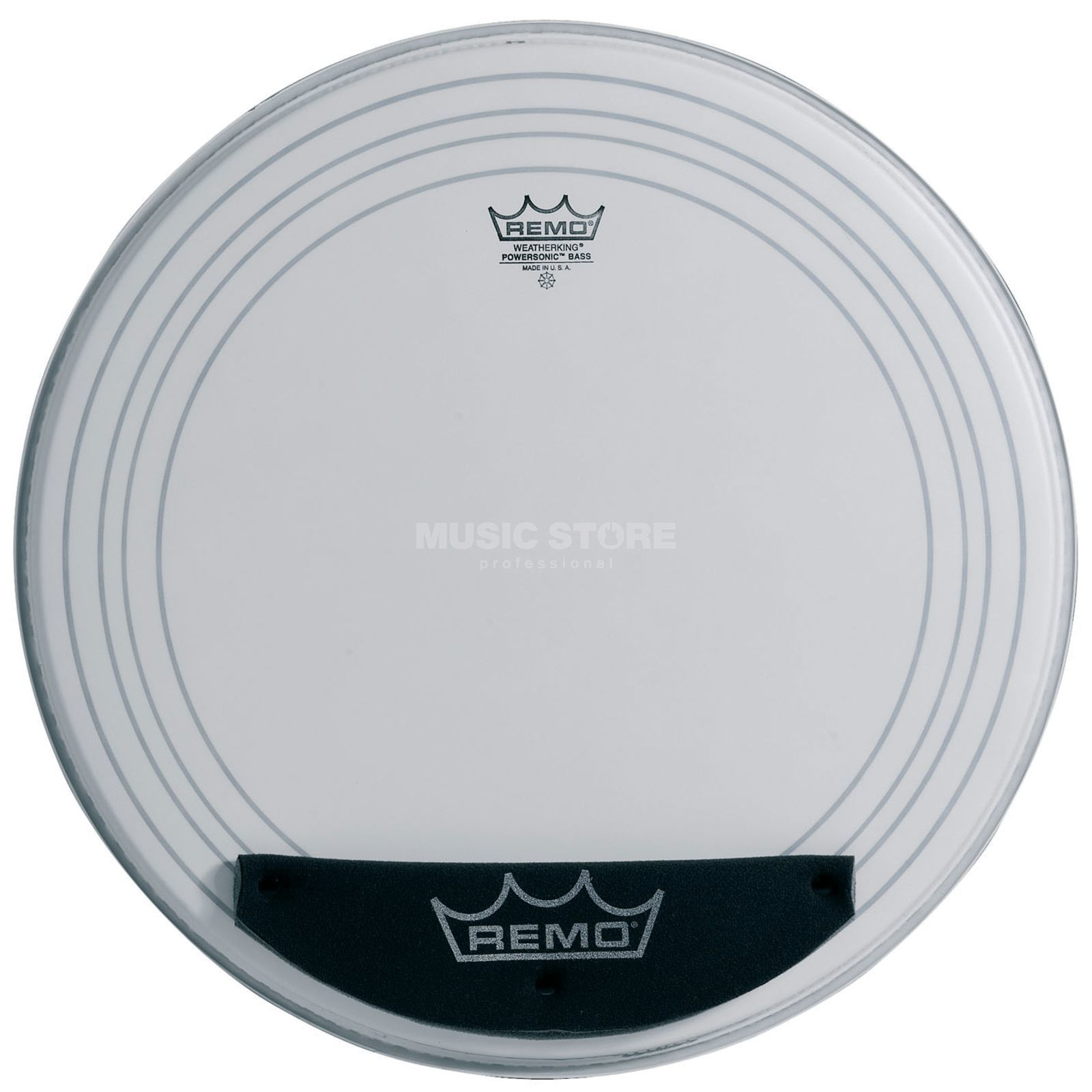 "Remo Powersonic 24"", coated, BassDrum Batter Head Produktbillede"