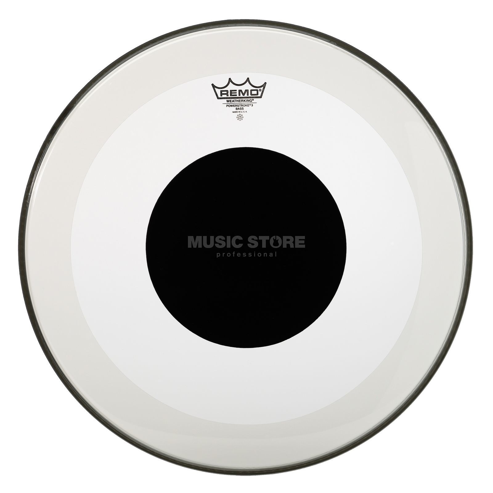 "Remo Powerstroke 3 Black Dot 26"", Clear, BassDrum Batter Produktbild"