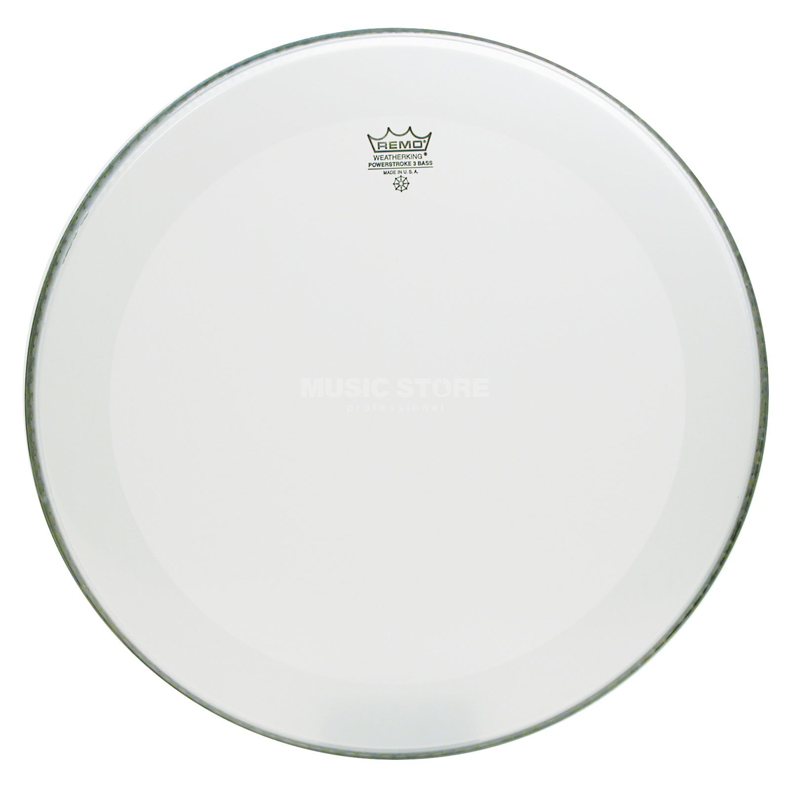 "Remo Powerstroke 3 Smooth White 24"" BassDrum Batter/Reso Product Image"