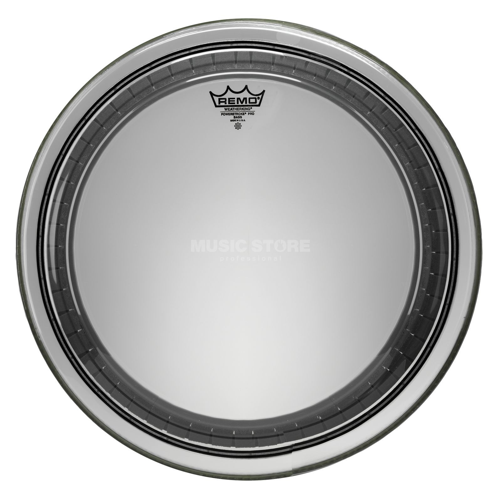 "Remo Powerstroke Pro, clear, 24"", BassDrum Batter Product Image"