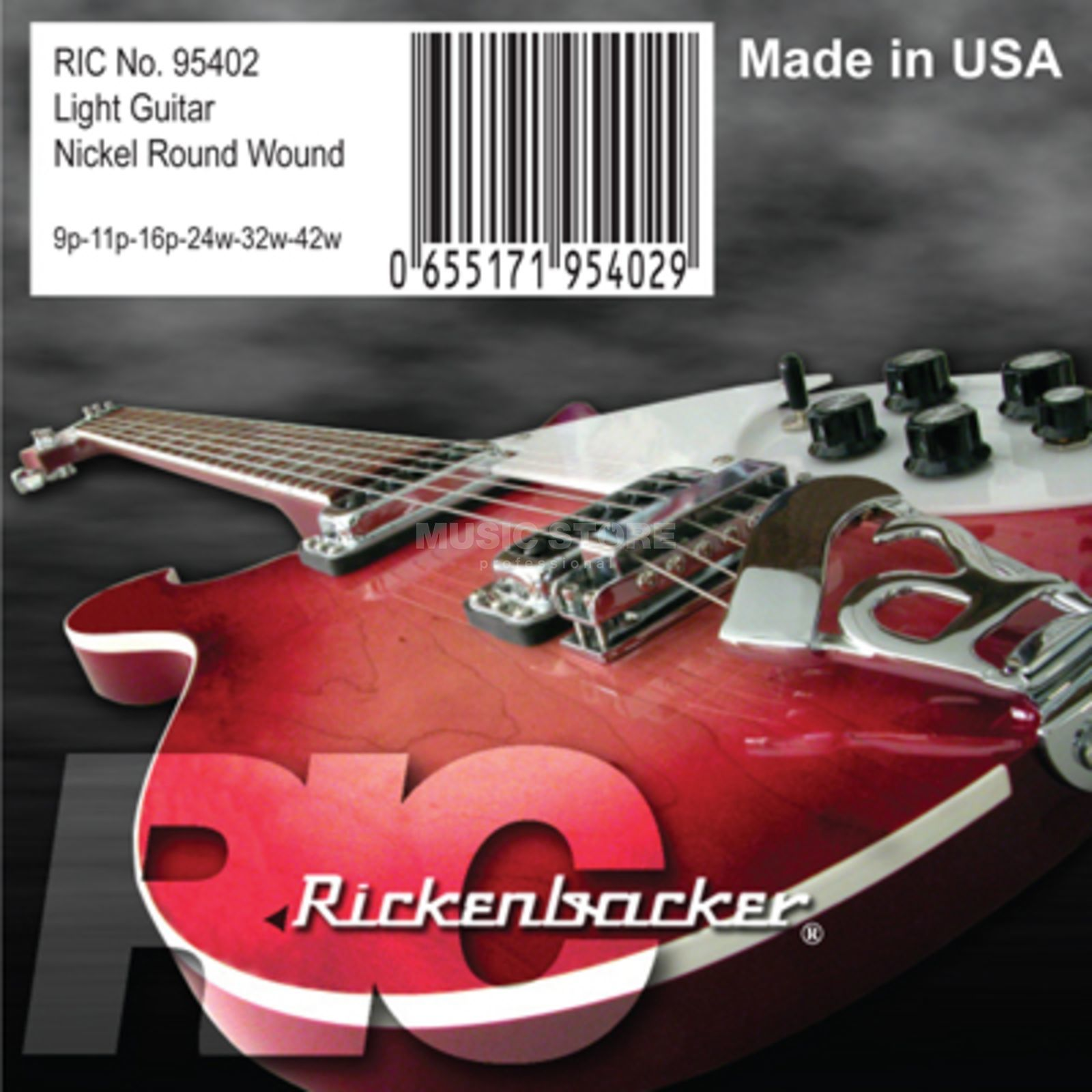 Rickenbacker 95402 Strings 009 - 042 Nickel Wound Produktbild