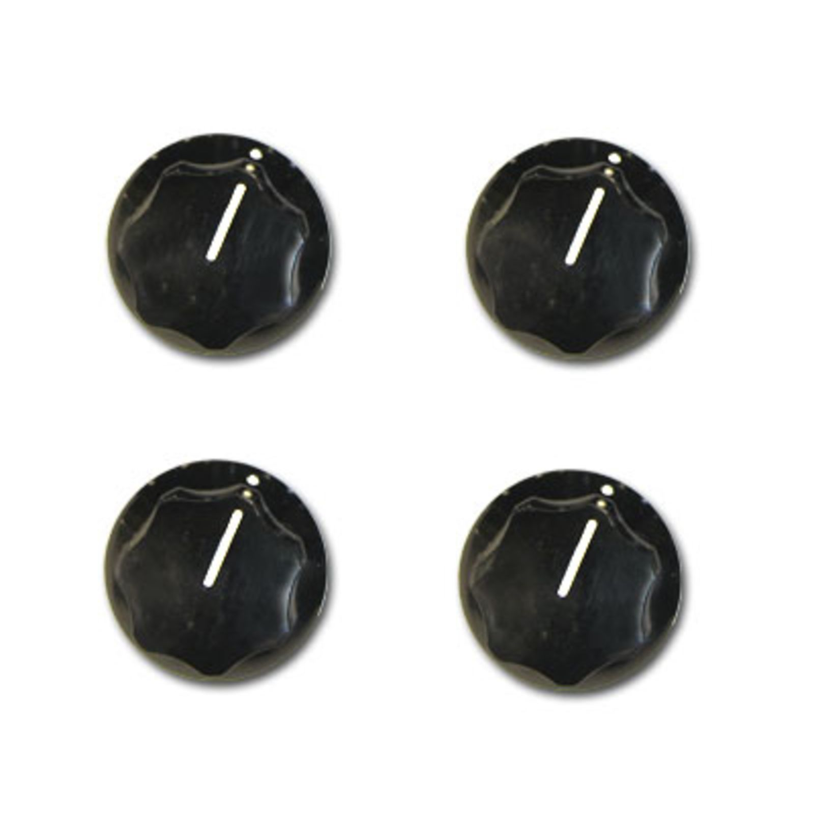 Rickenbacker Knobs Vintage Bass Black Set of 4 Produktbillede
