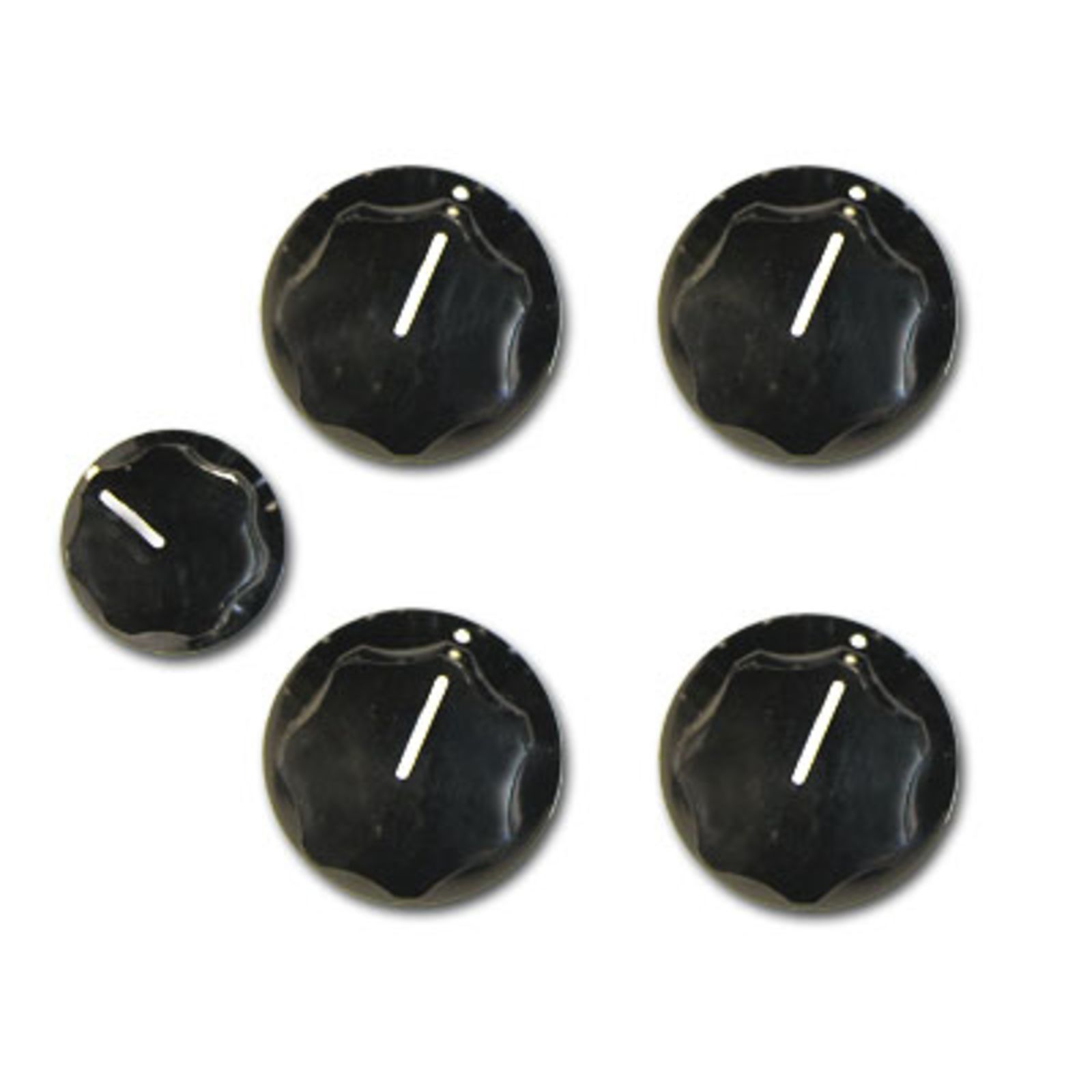 Rickenbacker Knobs Vintage Black Set of 5 Produktbild