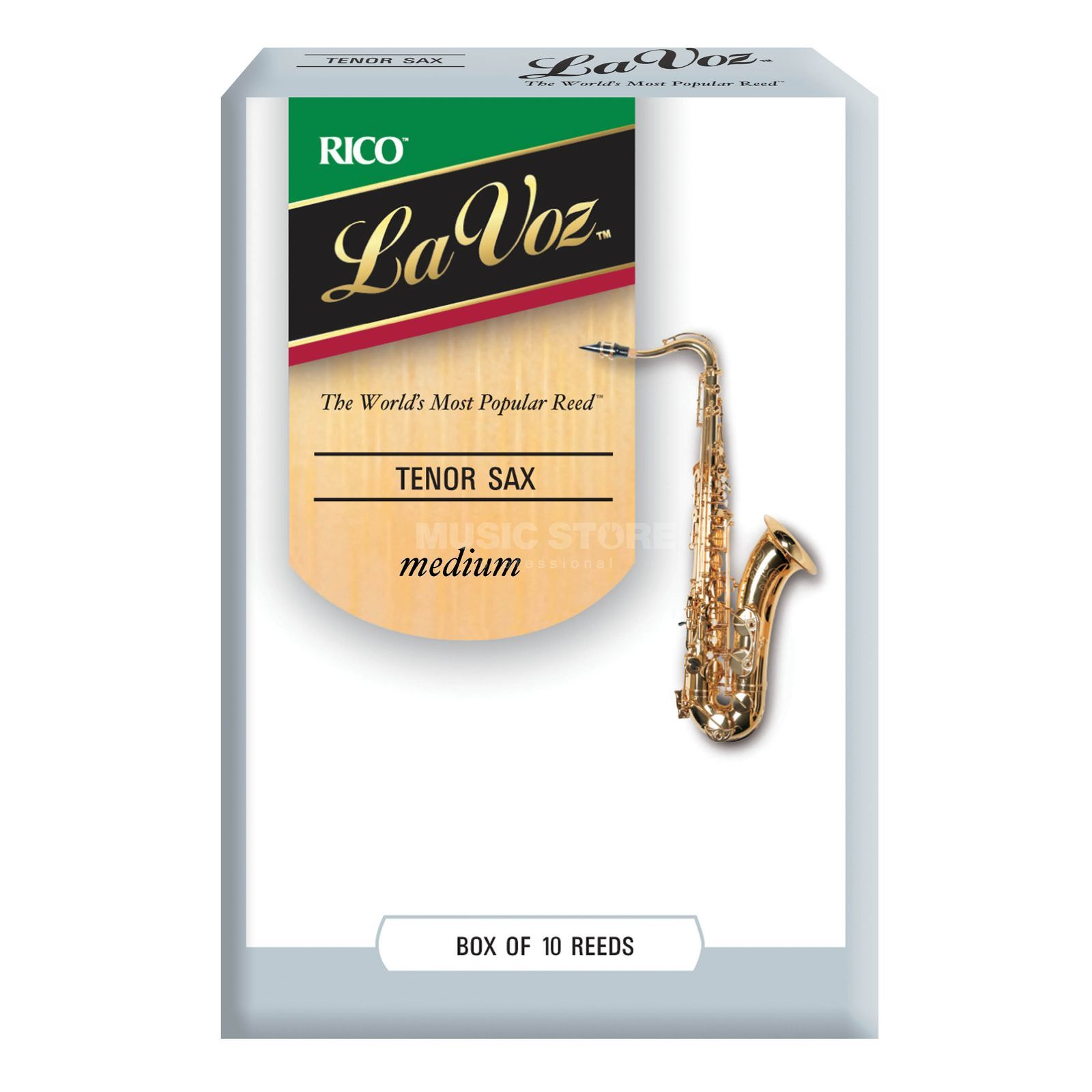 "Rico La Voz Tenor Sax Reeds ""Medium"" Box of 10 Immagine prodotto"