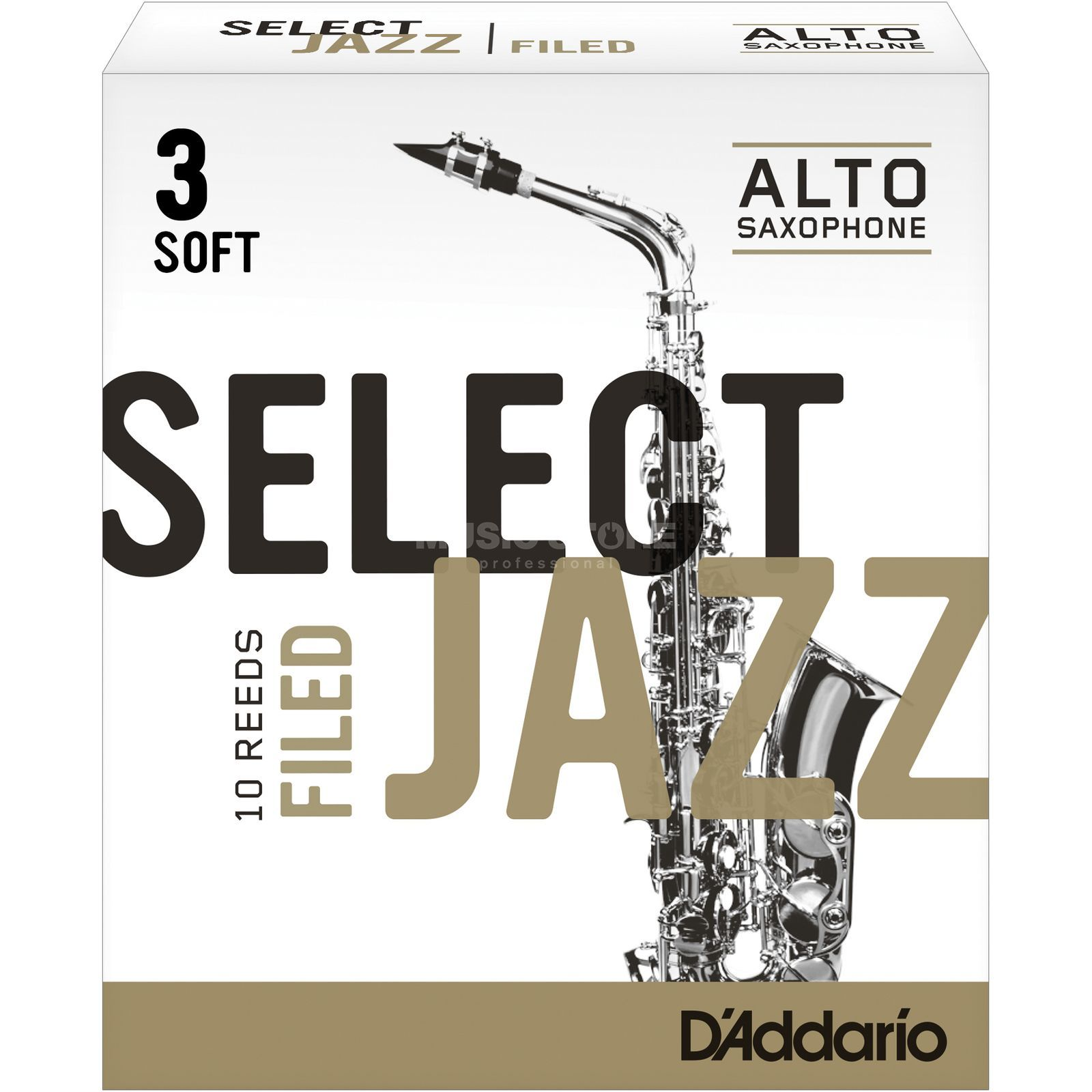Rico Select Jazz Filed Alto Sax Reeds 3S Box of 10 Product Image