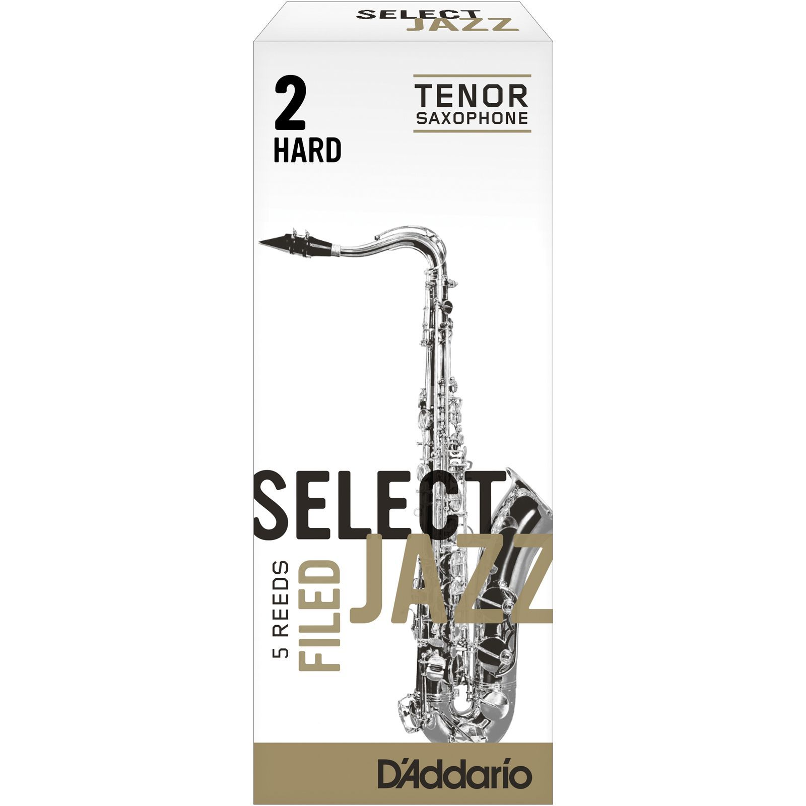 Rico Select Jazz Filed Tenor Sax Reeds 2H Box of 5 Produktbillede