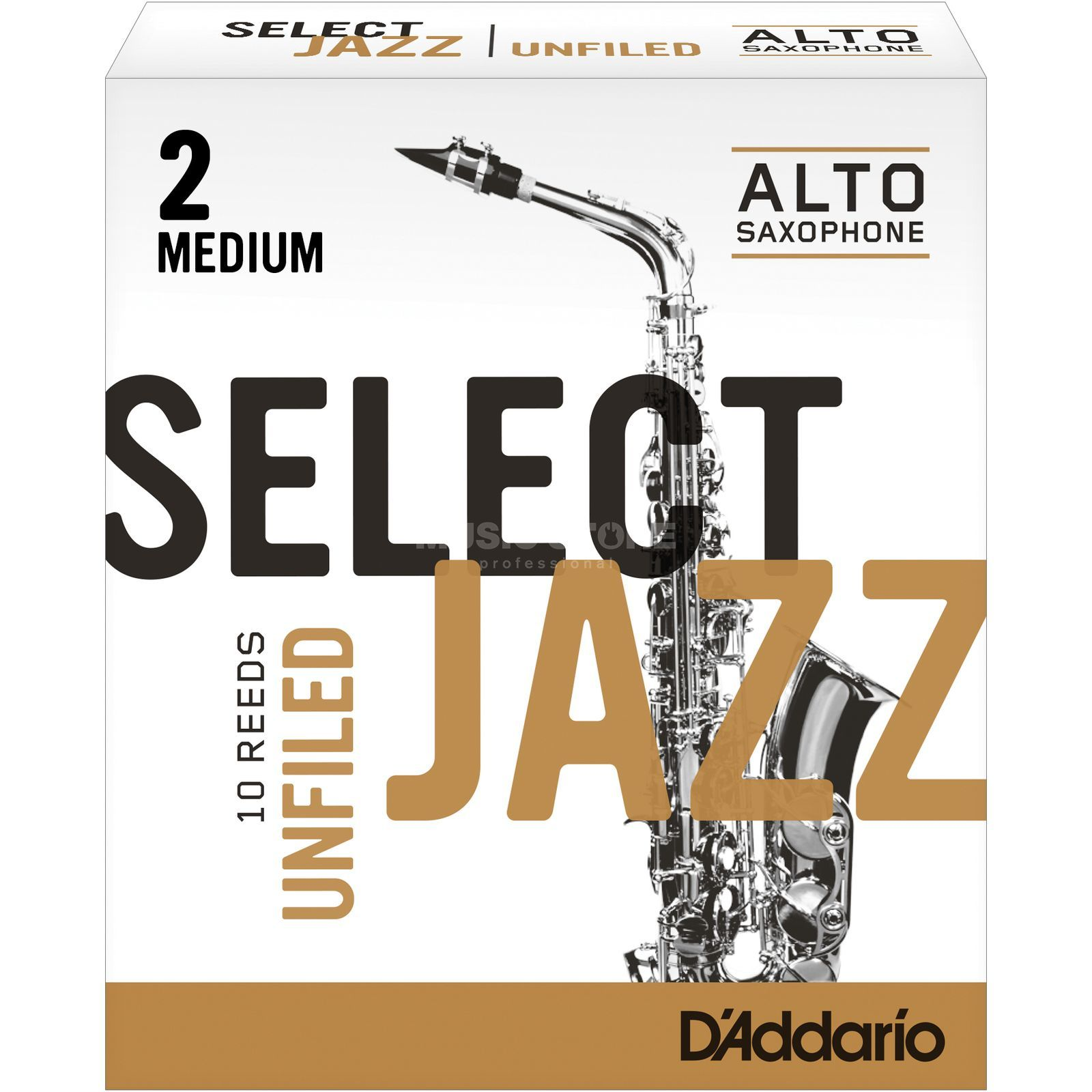 Rico Select Jazz Unfiled Alto Sax Reeds 2M Unfiled Box of 10 Product Image