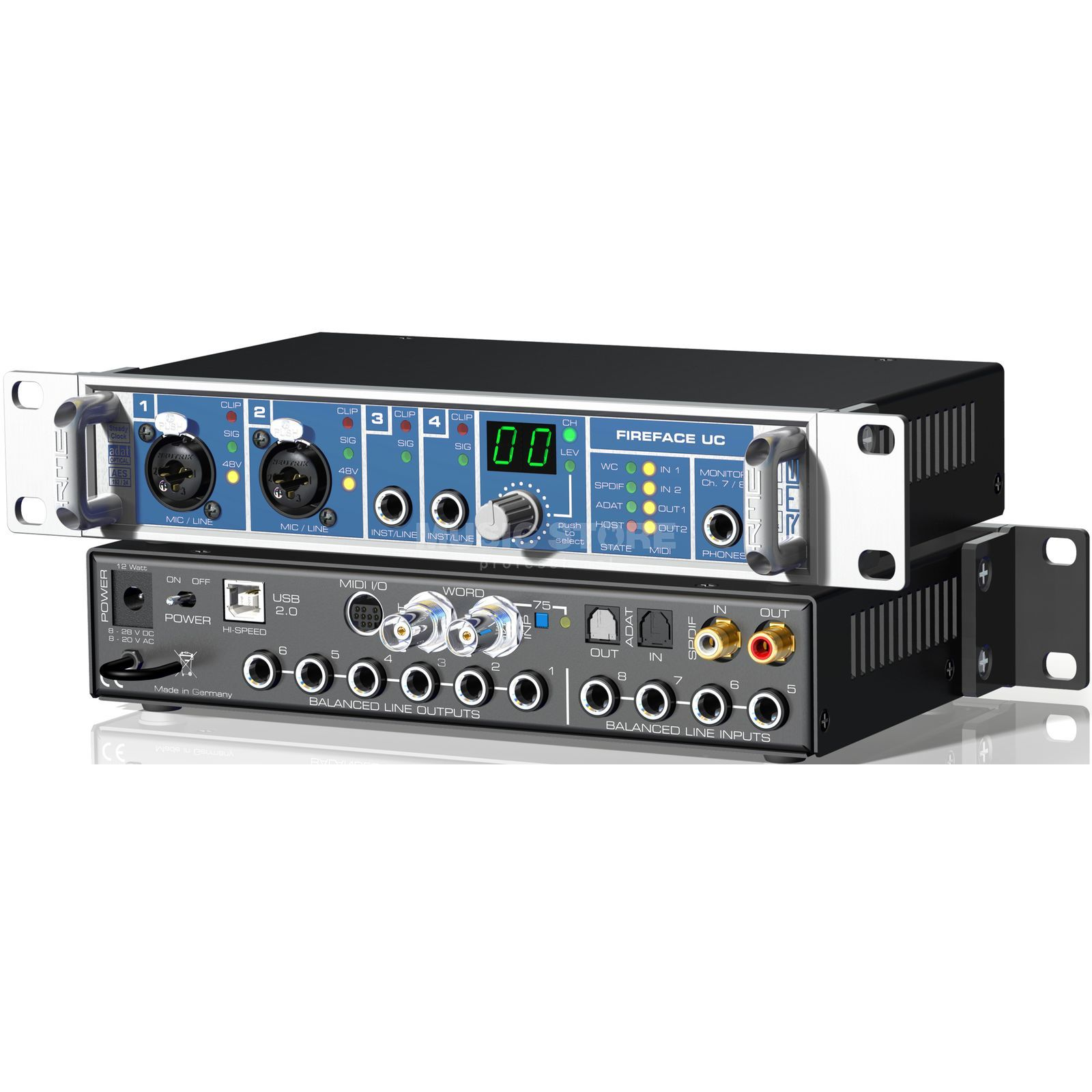 RME Fireface UC 36 Channel AudioInterface USB Produktbillede