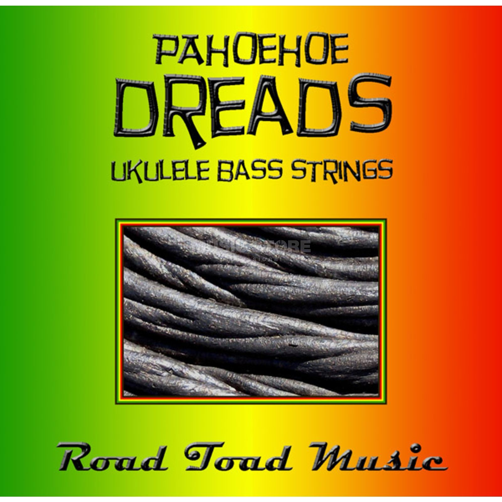 Road Toad Music U-Bass Pahoehoe Dread 4-String Black,Green,Yellow,Red Produktbillede