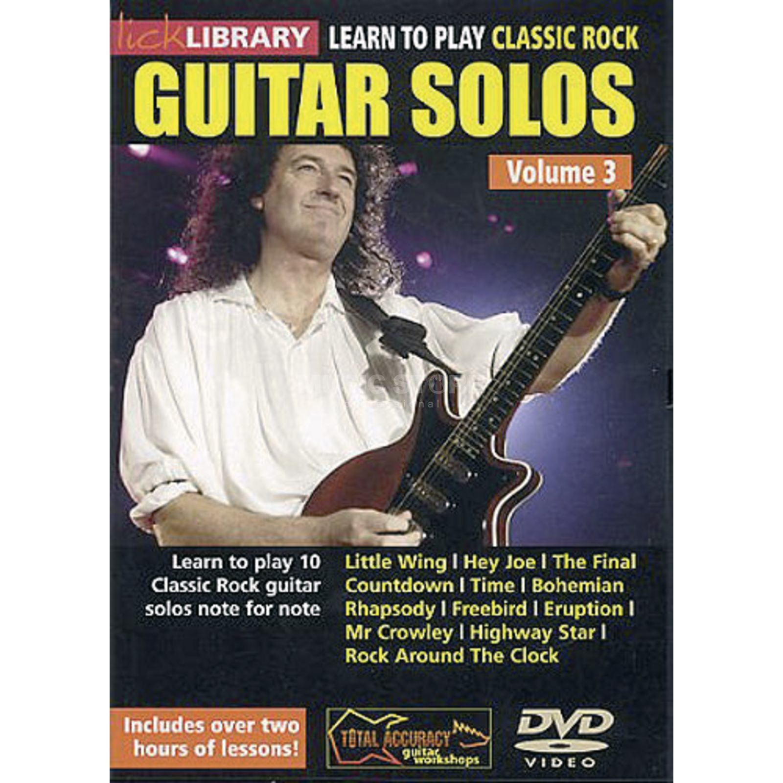 Roadrock International Classic rock guit solos 3 Learn to play (Guitar), DVD Produktbillede
