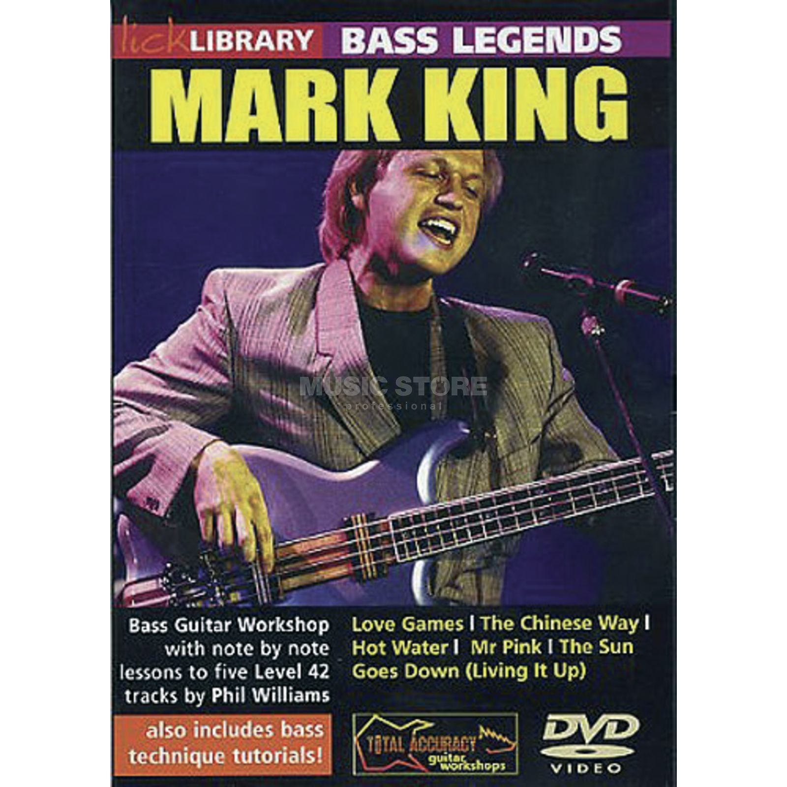 Roadrock International Lick Library: Bass Legends - Mark King DVD Produktbild