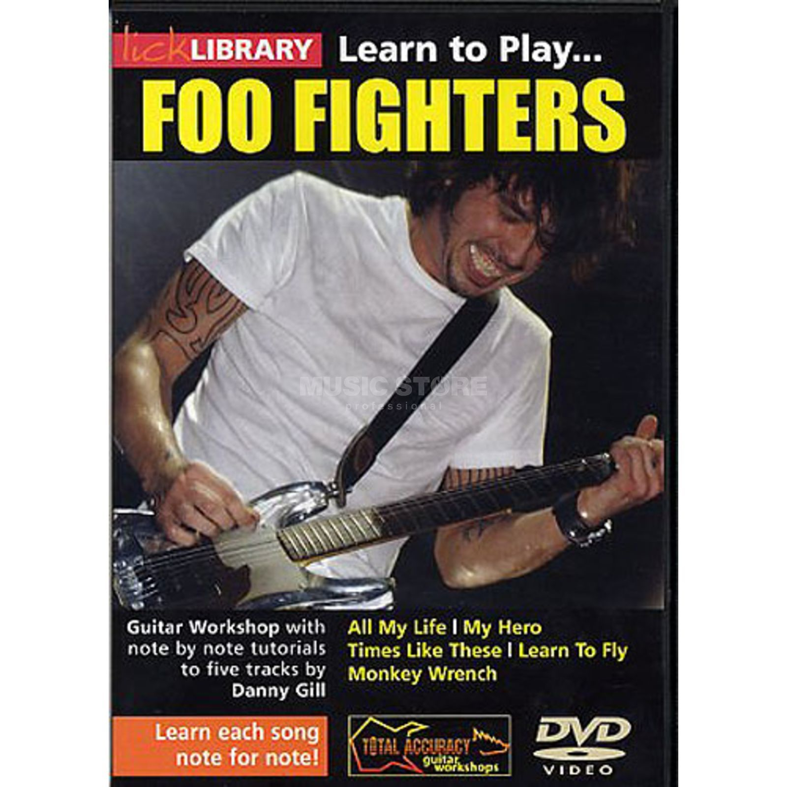 Roadrock International Lick library - Foo Fighters Learn to play (Guitar), DVD Produktbillede