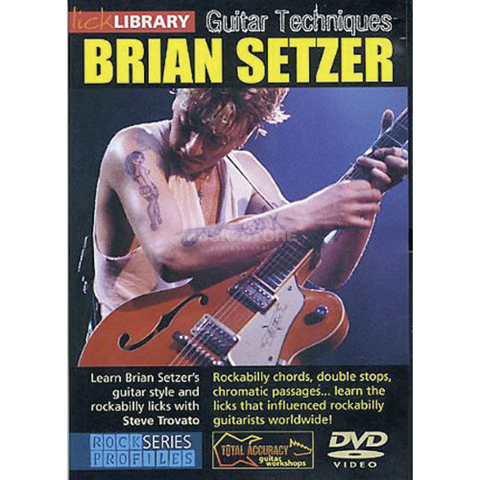 Roadrock International Lick Library: Guitar Techniques - Brian Setzer DVD Produktbillede