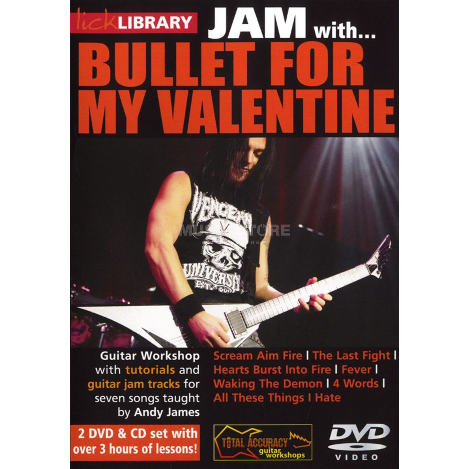 Roadrock International Lick Library: Jam With Bullet For My Valentine DVD, CD Produktbillede