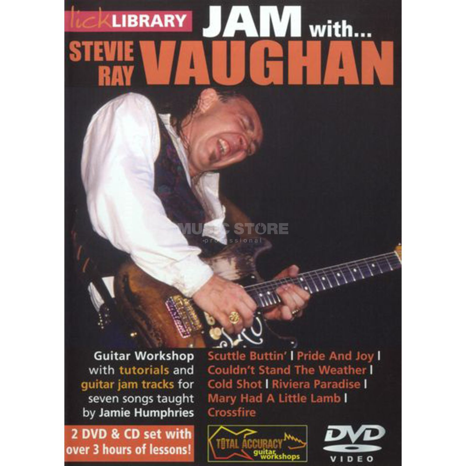 Roadrock International Lick Library: Jam With Stevie Ray Vaughan DVD, CD Produktbillede