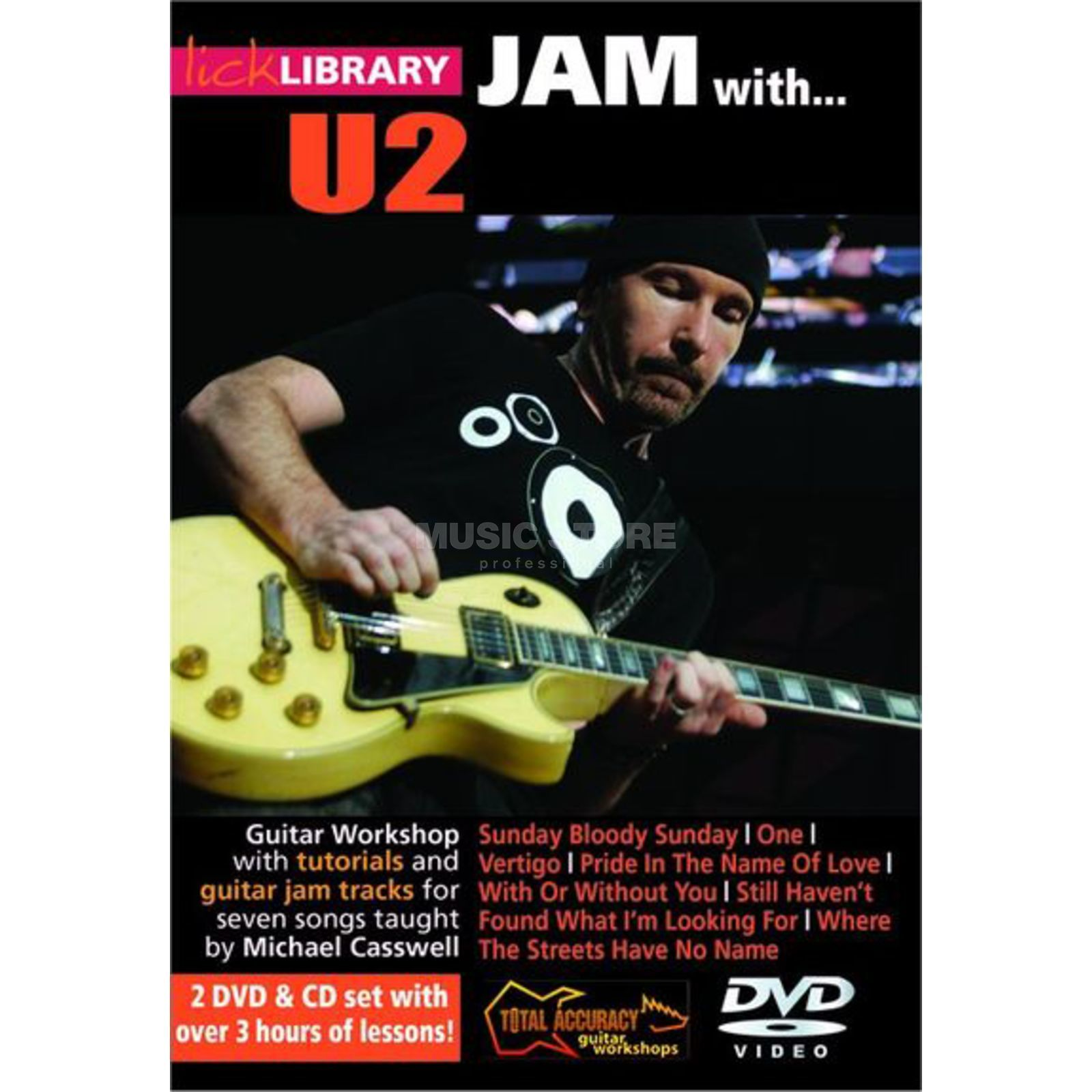 Roadrock International Lick Library: Jam With U2 DVD, CD Product Image