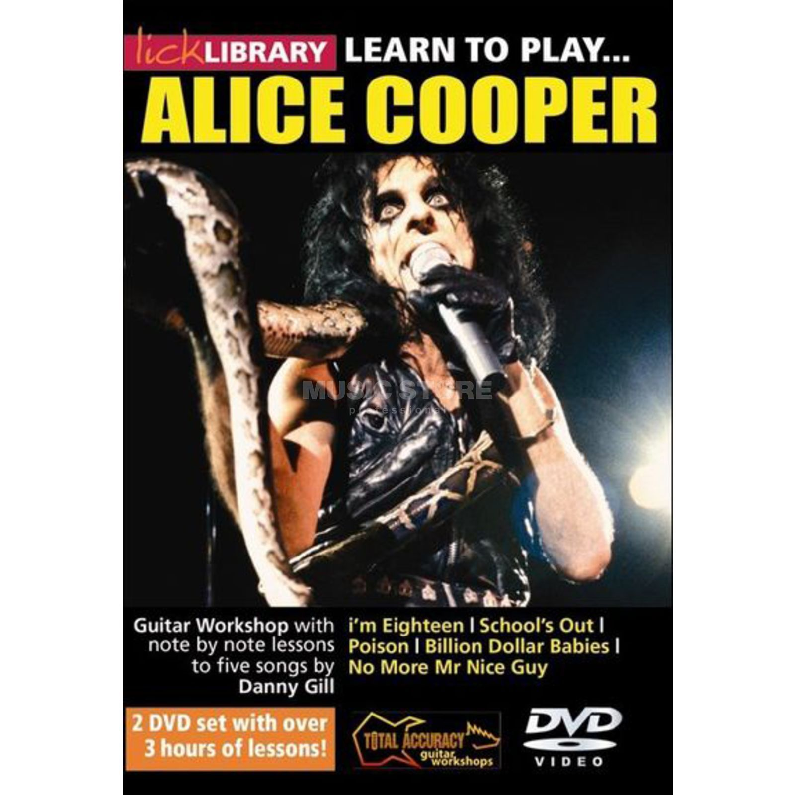Roadrock International Lick Library: Learn To Play Alice Cooper DVD Product Image