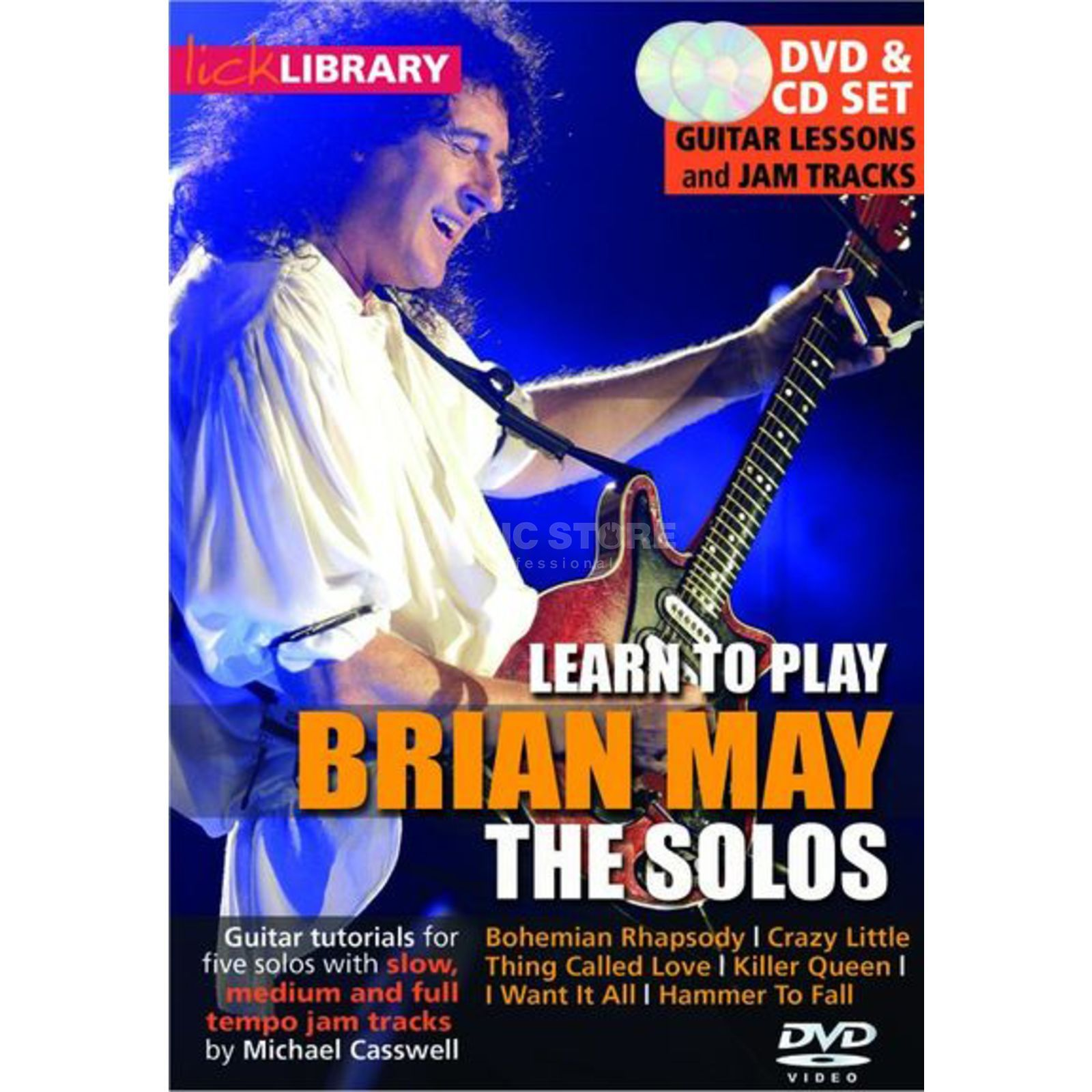 Roadrock International Lick Library: Learn To Play Brian May - The Solos DVD Produktbillede