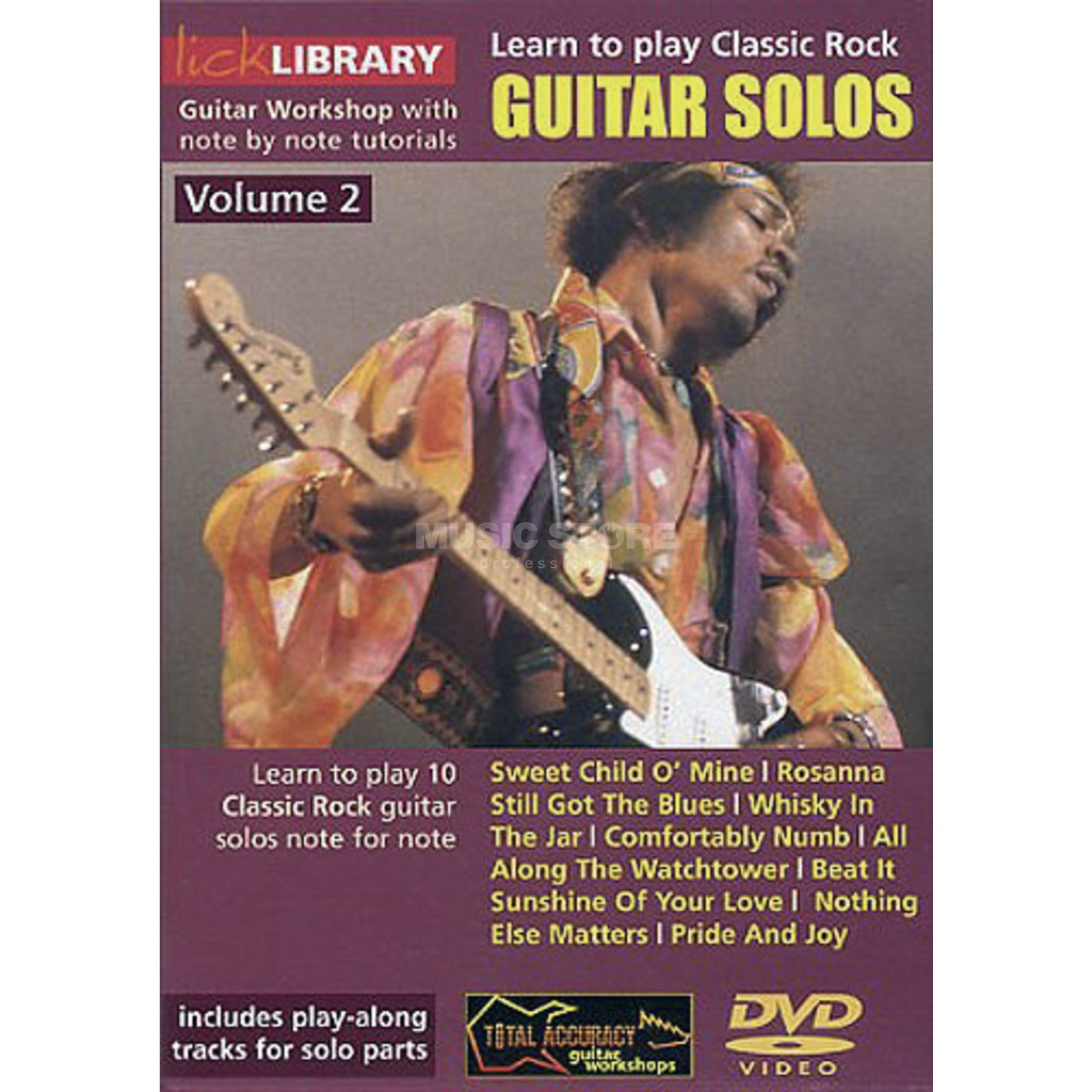 Roadrock International Lick Library: Learn To Play Classic Rock Guitar Solos 2 DVD Product Image