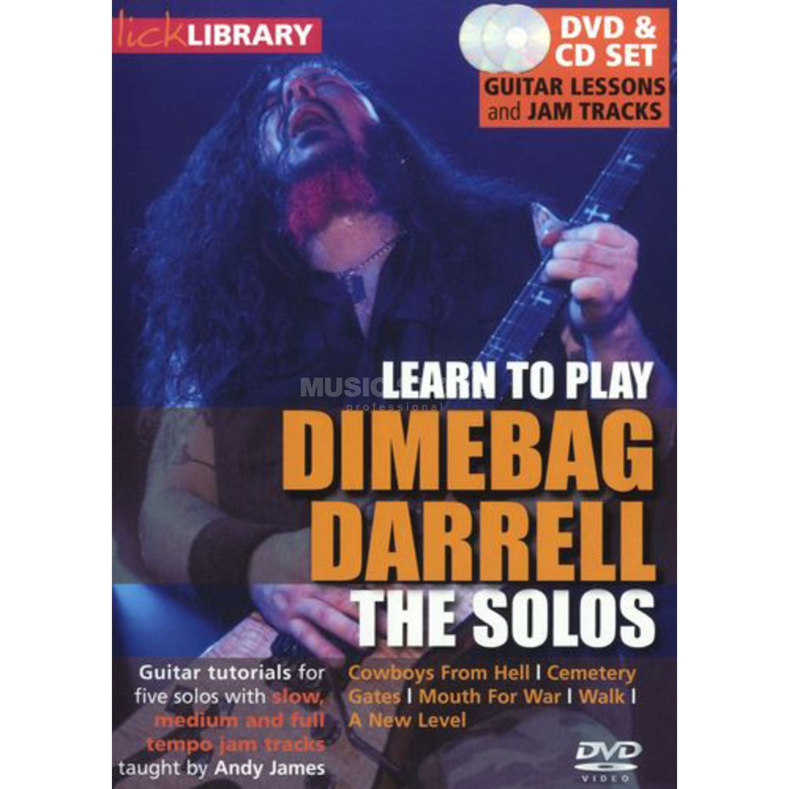 Roadrock International Lick Library: Learn To Play Dimebag Darrell - The Solos DVD Produktbild