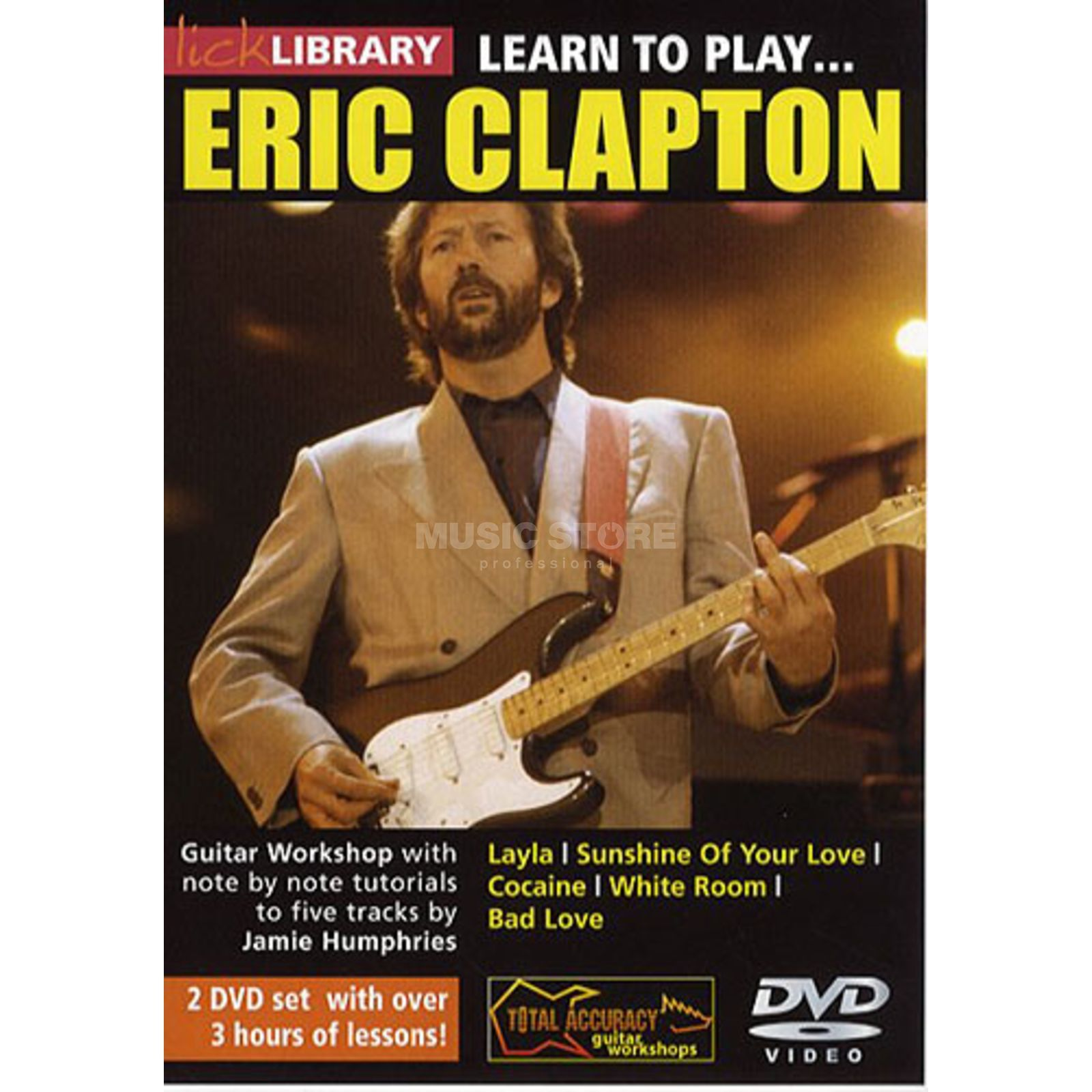 Roadrock International Lick Library: Learn To Play Eric Clapton DVD Produktbillede