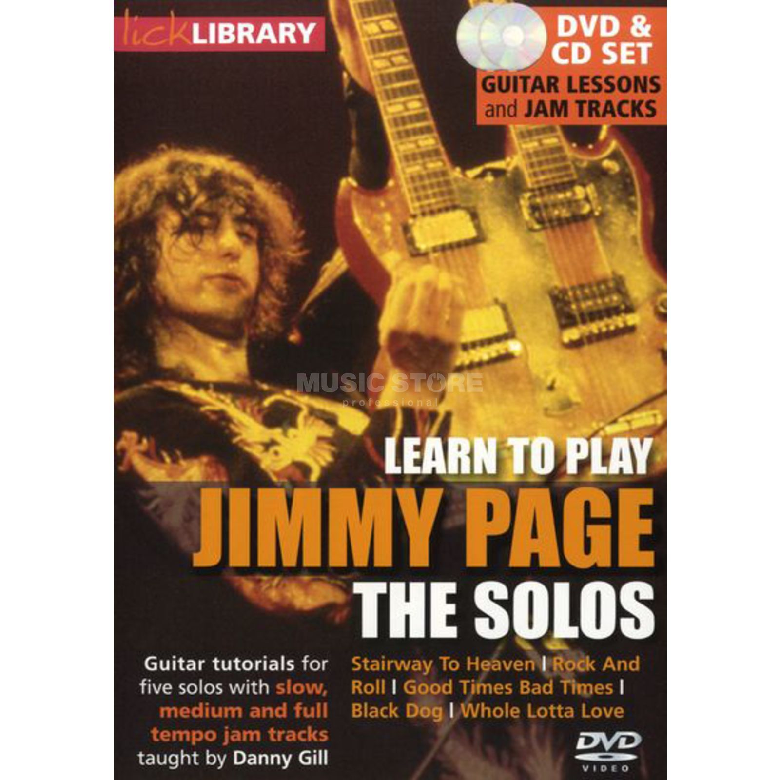 Roadrock International Lick Library: Learn To Play Jimmy Page: The Solos DVD Produktbillede
