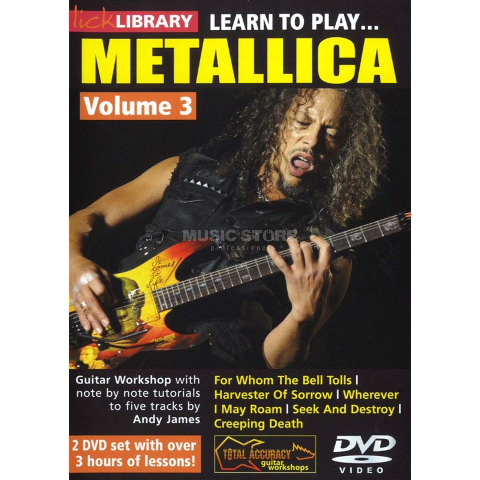 Roadrock International Lick Library: Learn To Play Metallica 3 DVD Produktbillede