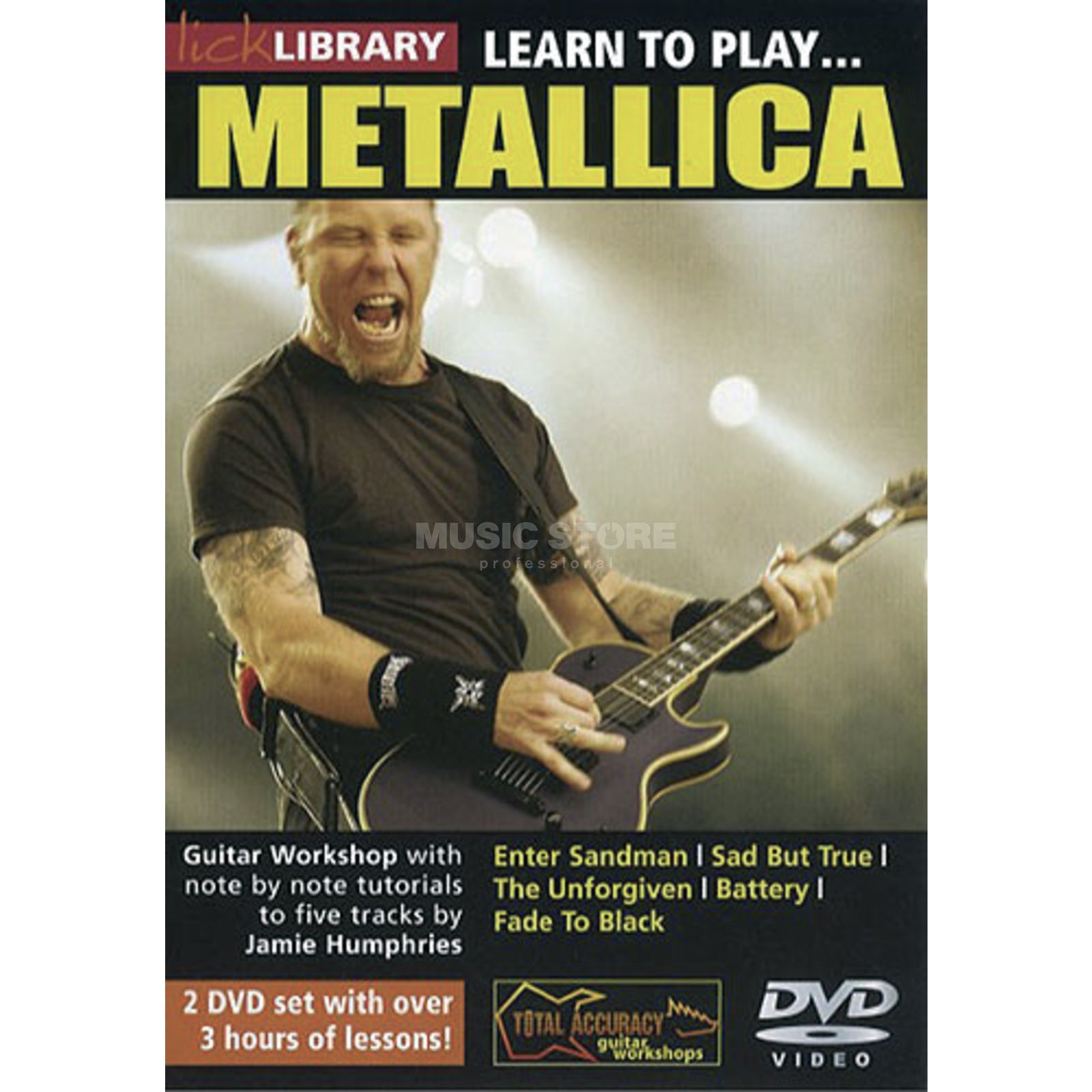 Roadrock International Lick Library: Learn To Play Metallica DVD Produktbild
