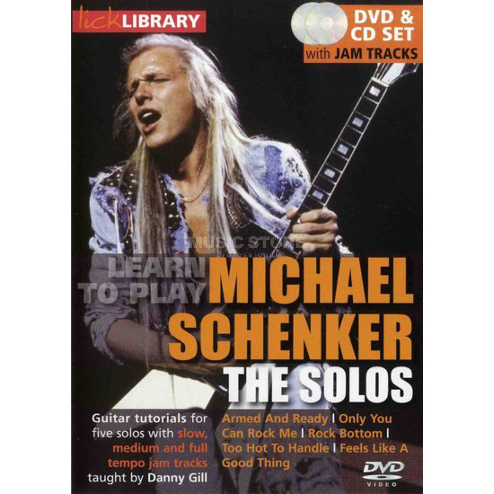 Roadrock International Lick Library: Learn To Play Michael Schenker - The Solos DVD Produktbillede