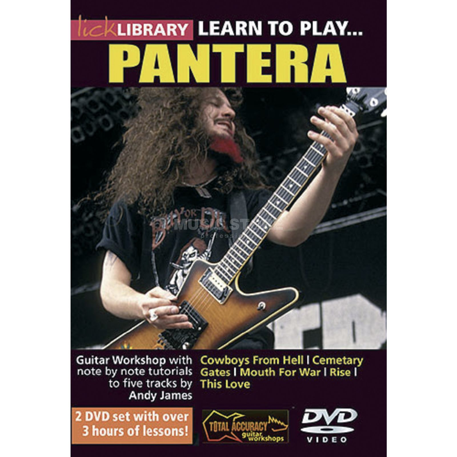 Roadrock International Lick Library: Learn To Play Pantera DVD Produktbillede