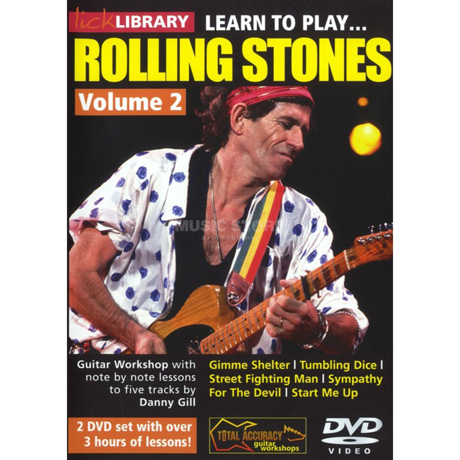 Roadrock International Lick Library: Learn To Play Rolling Stones 2 DVD Produktbillede