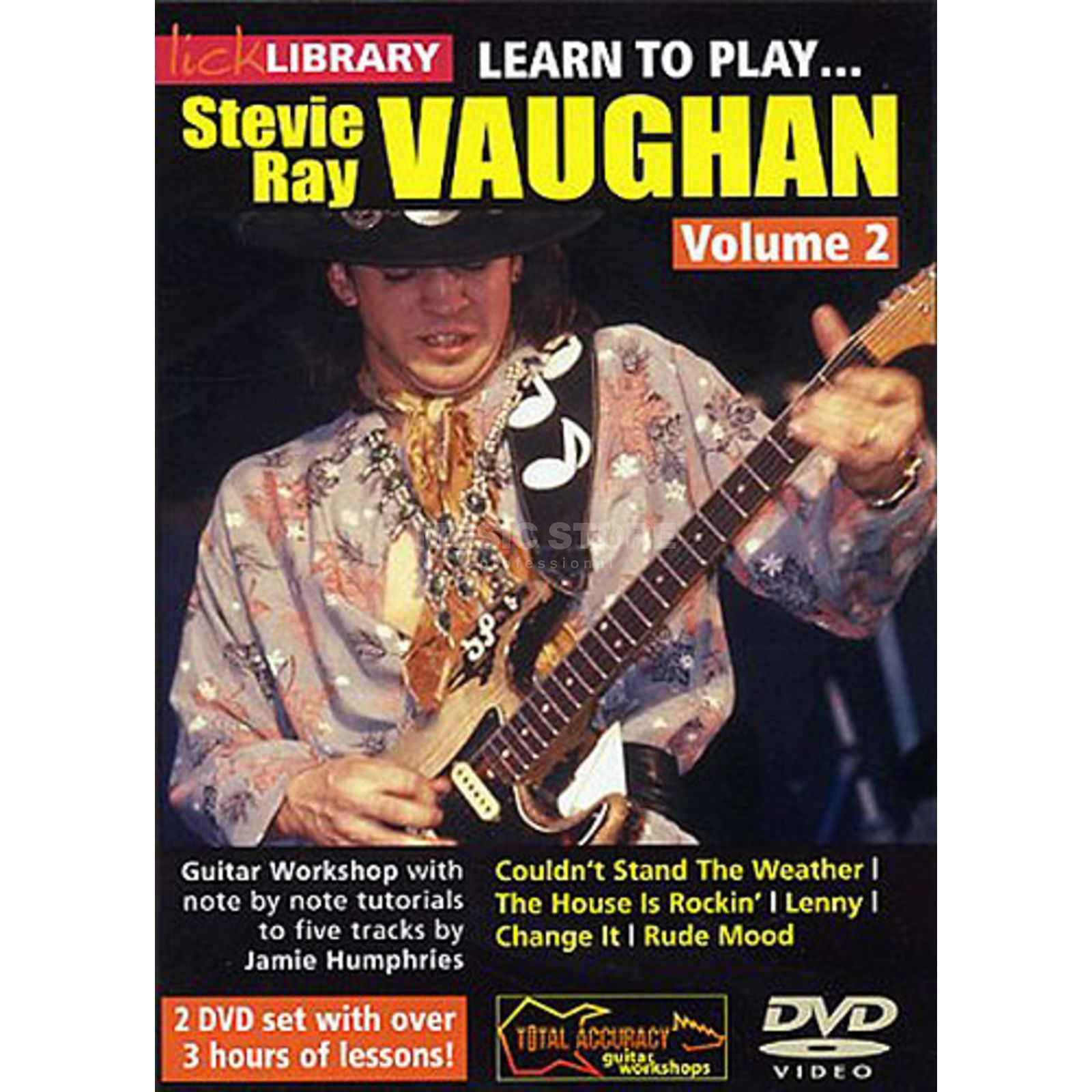 Roadrock International Lick library - S R Vaughan 2 Learn to play (Guitar), DVD Produktbillede