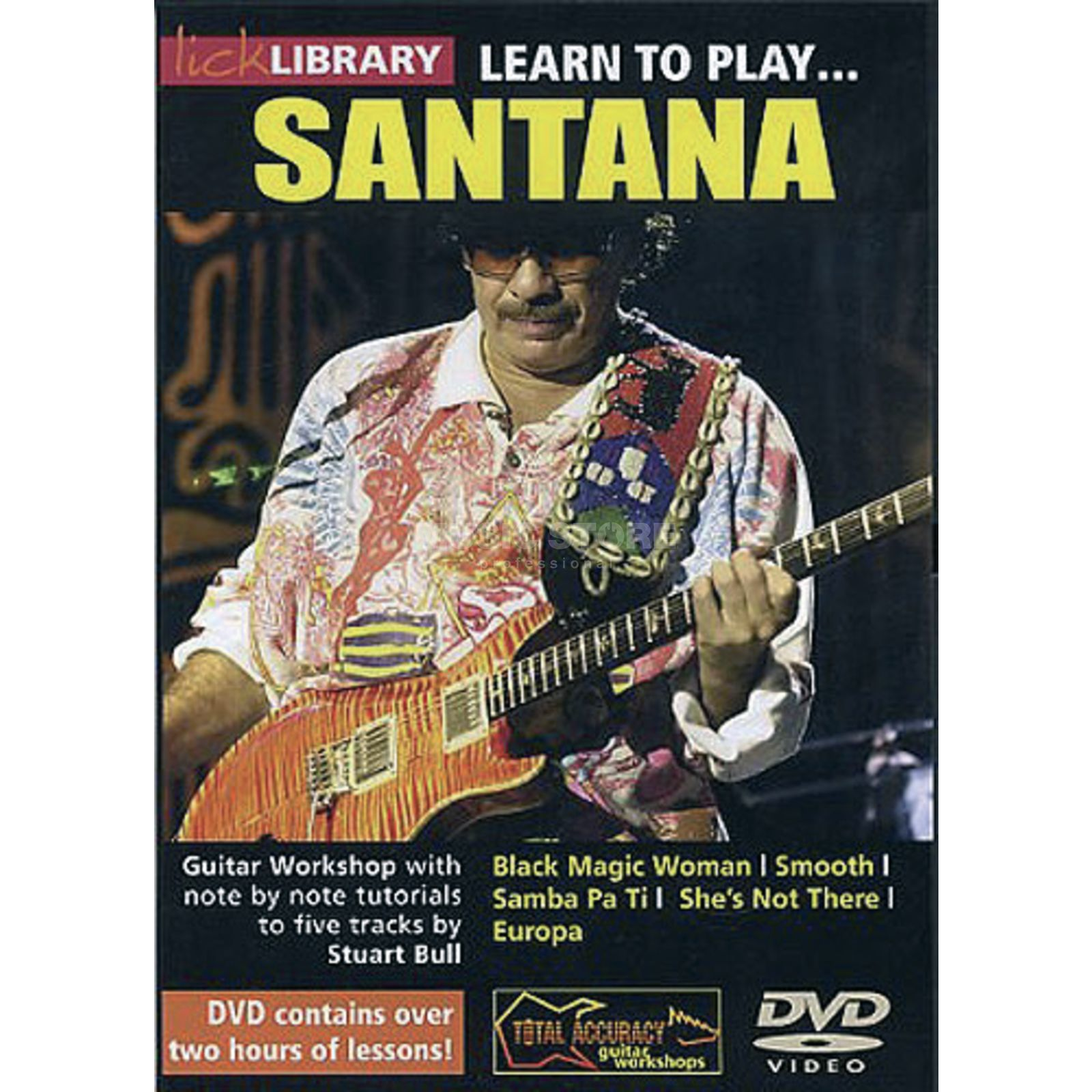 Roadrock International Lick library - Santana Learn to play (Guitar), DVD Produktbillede