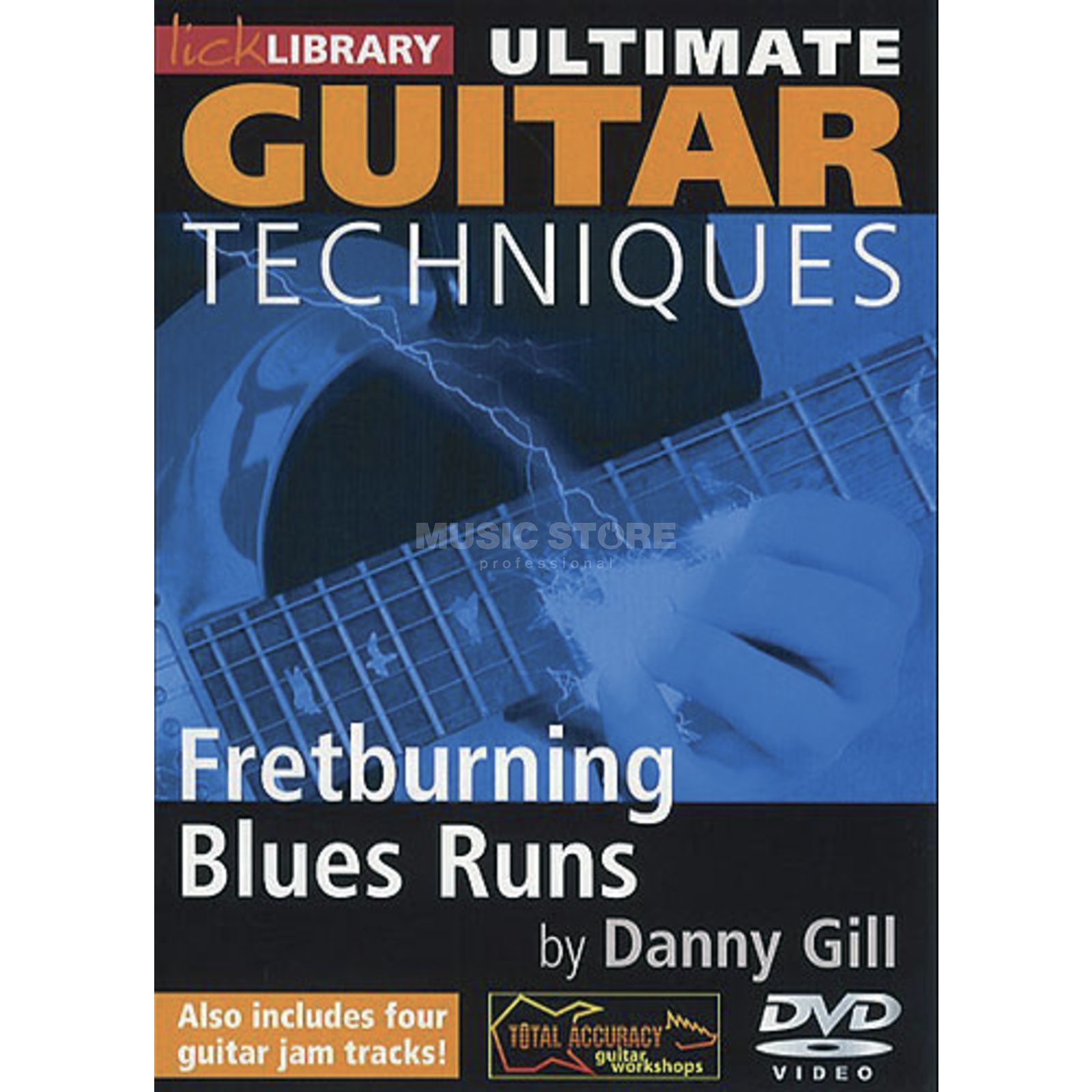 Roadrock International Lick Library: Ultimate Guitar Techniques - Fretburning Blues Runs DVD Produktbillede