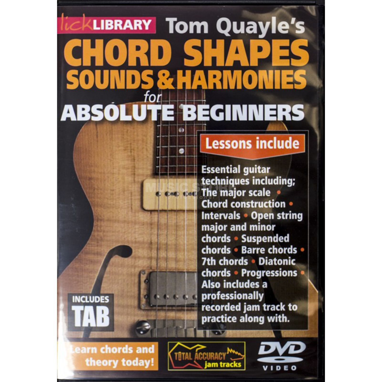 Roadrock International Tom Quayle's Chord Shapes, Sounds And Harmonies For Absolute Beginners DVD Produktbillede