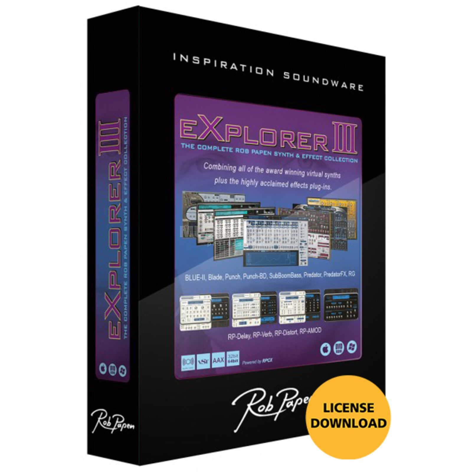 Rob Papen eXplorer III Upgrade License Code Produktbild