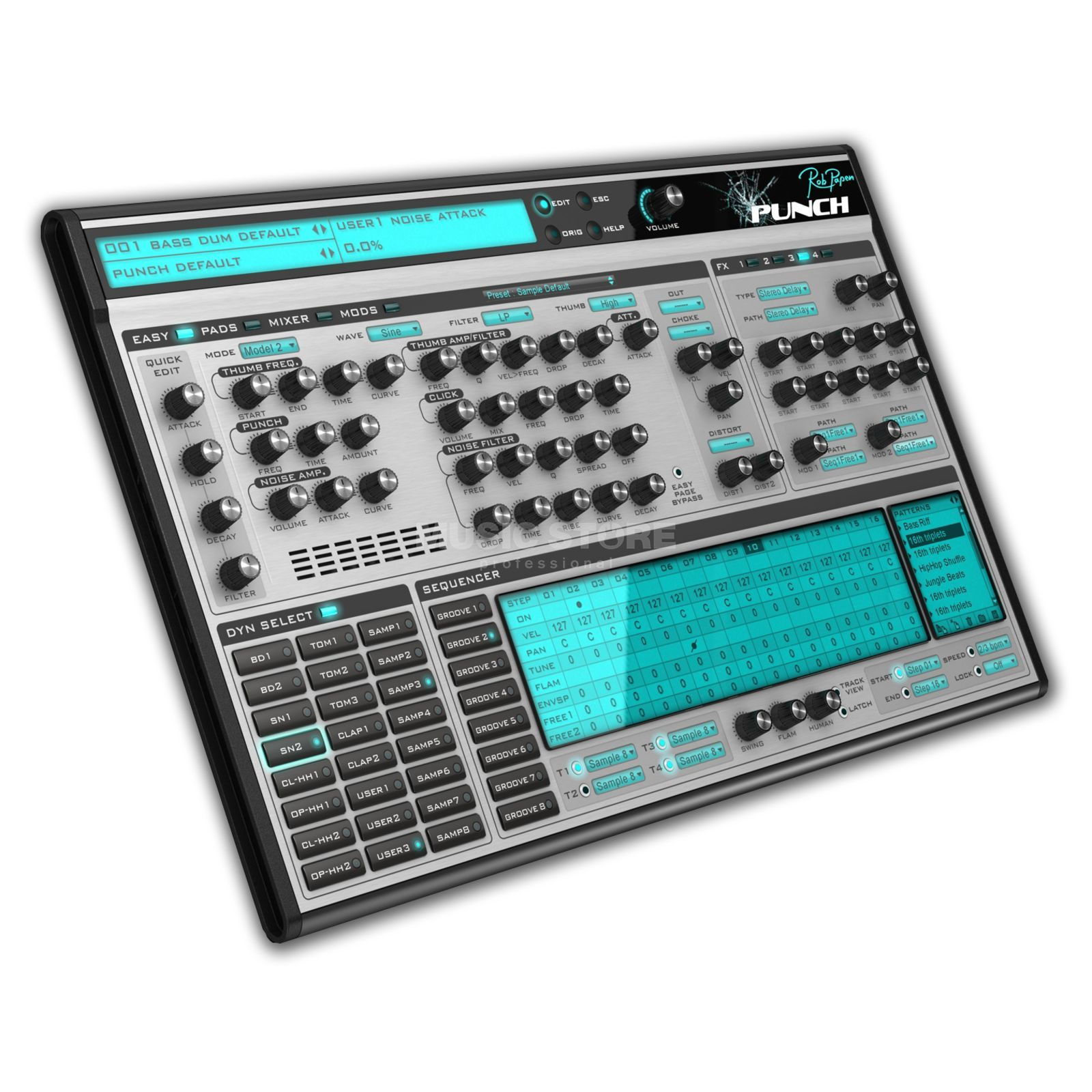 Rob Papen Punch Percussion + Drum Synth Produktbild