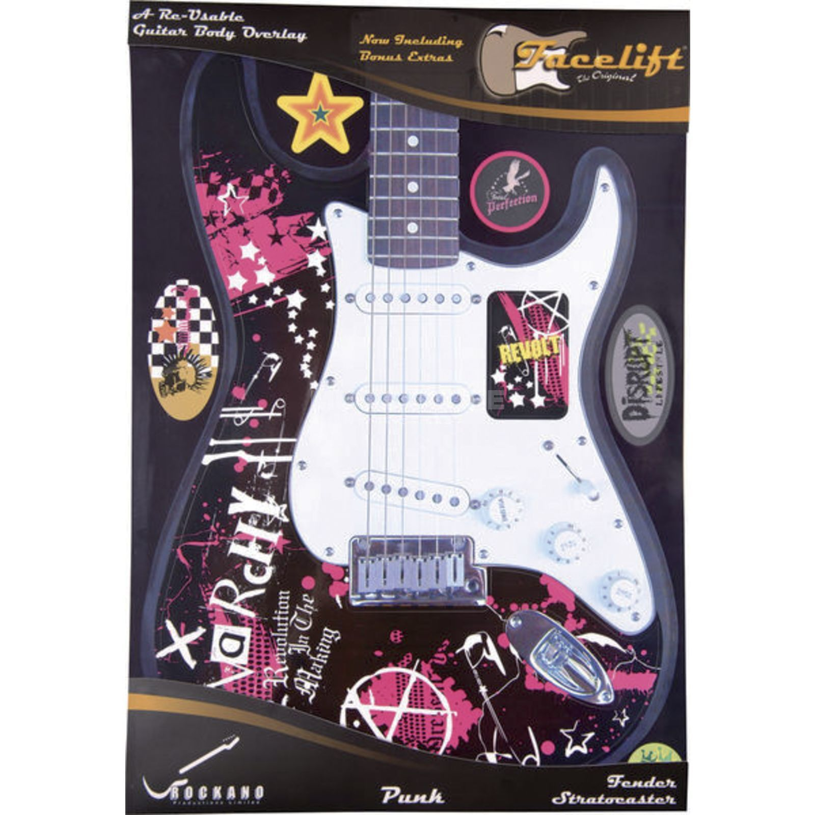 Rockano Guitar Facelift Facelift Punk ST- Style Gitarren Overlay Product Image