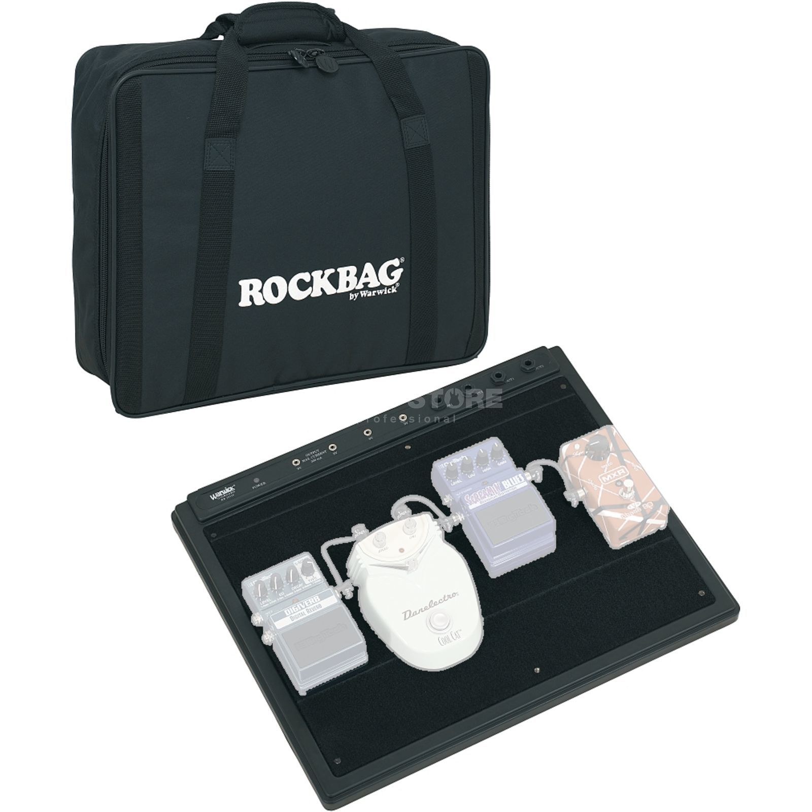 Rockbag Gigboard Small, incl. Bag for 4-5 Floor Effects, Pow.Sup Produktbillede