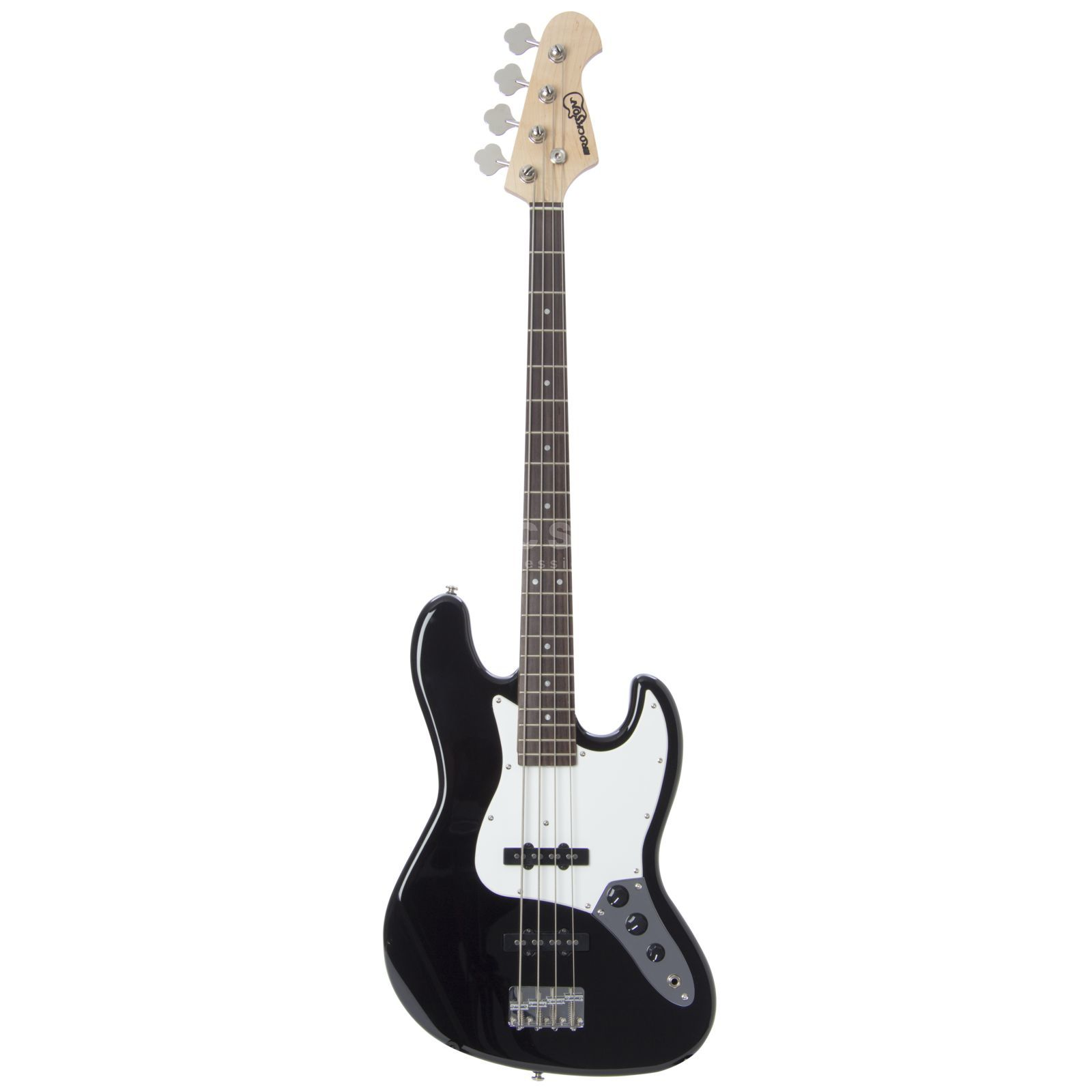 Rockson R-JB99 BK 4-String E-Bass Guitar, Black High gloss Produktbillede