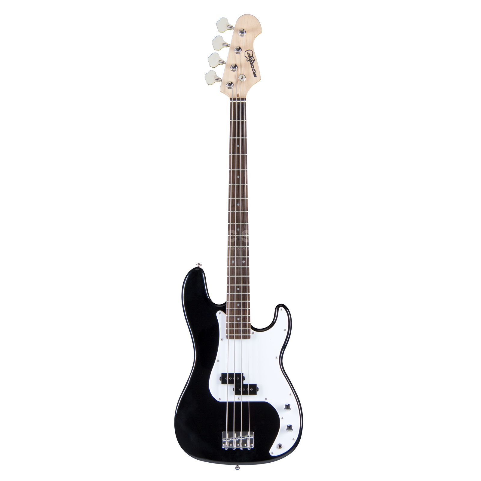 Rockson R-PB66 BK 4-String E-Bass Guitar, Black High gloss Immagine prodotto