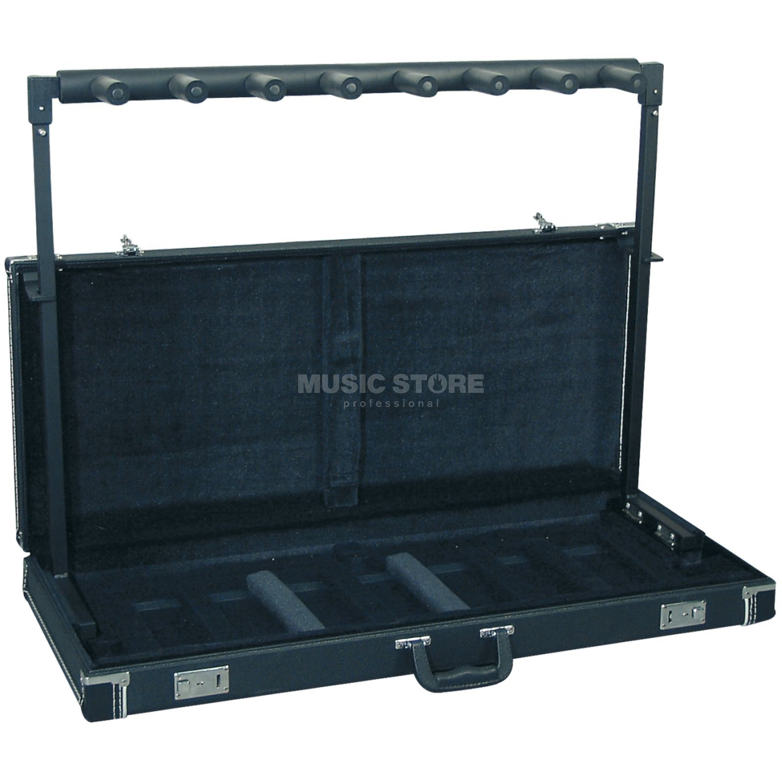 Rockstand Multiple E-Guit./Bass Stand, for 7 Instr. in Tolex Case Produktbillede