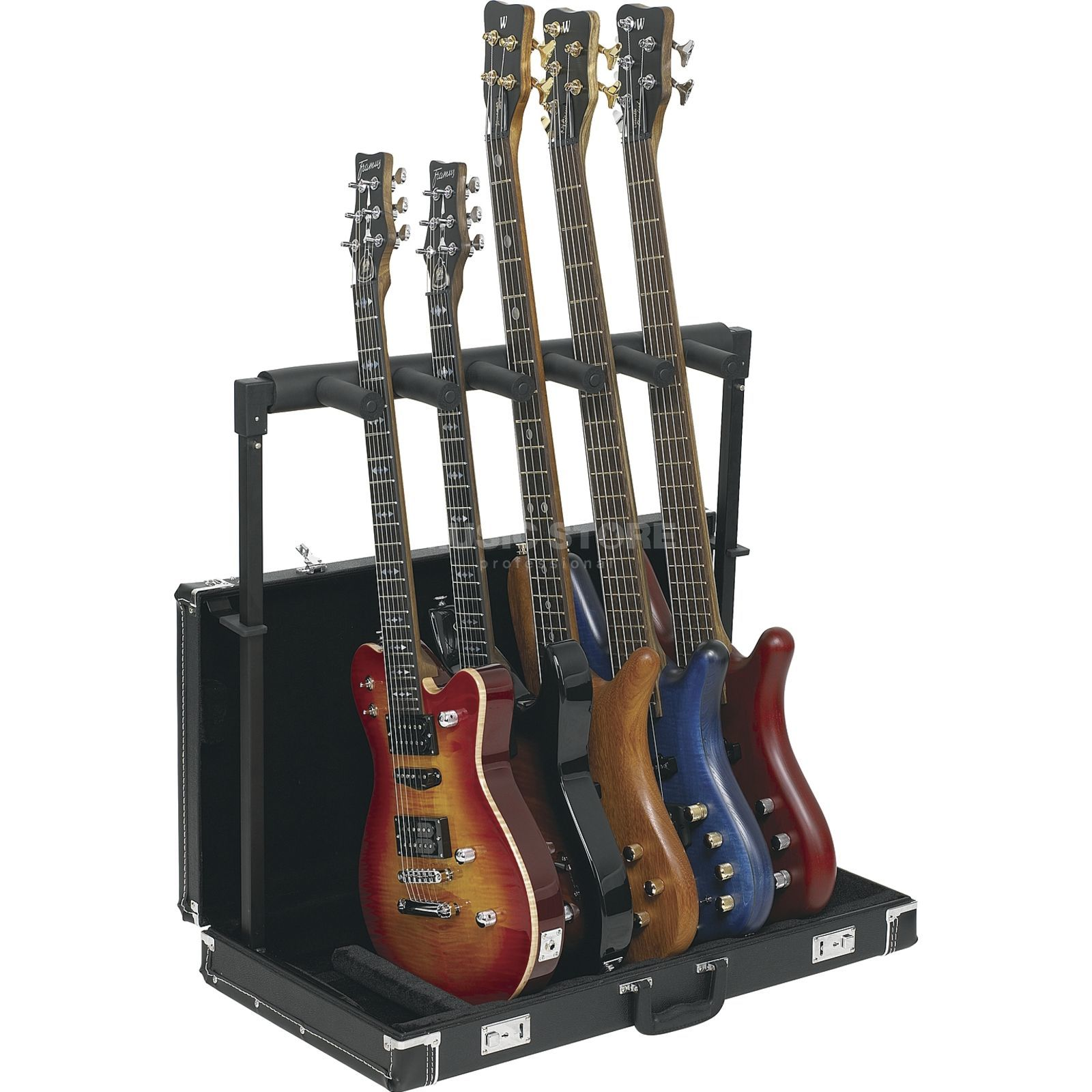 Rockstand RS20850B/2 5-Way Woodcase Guitar Stand Produktbild