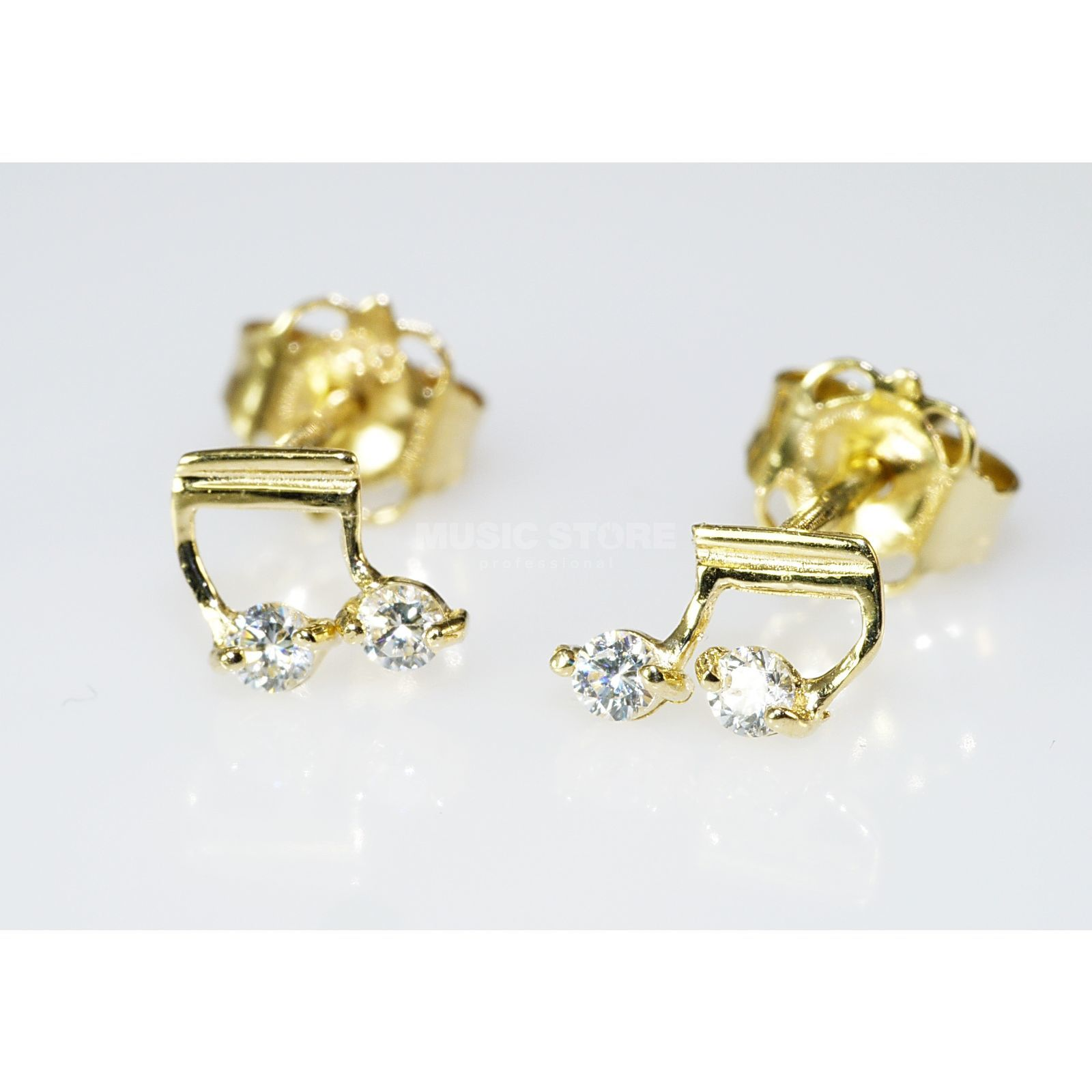 Rockys Earrings Note Gold 333/8 Karat, zirconia Produktbillede