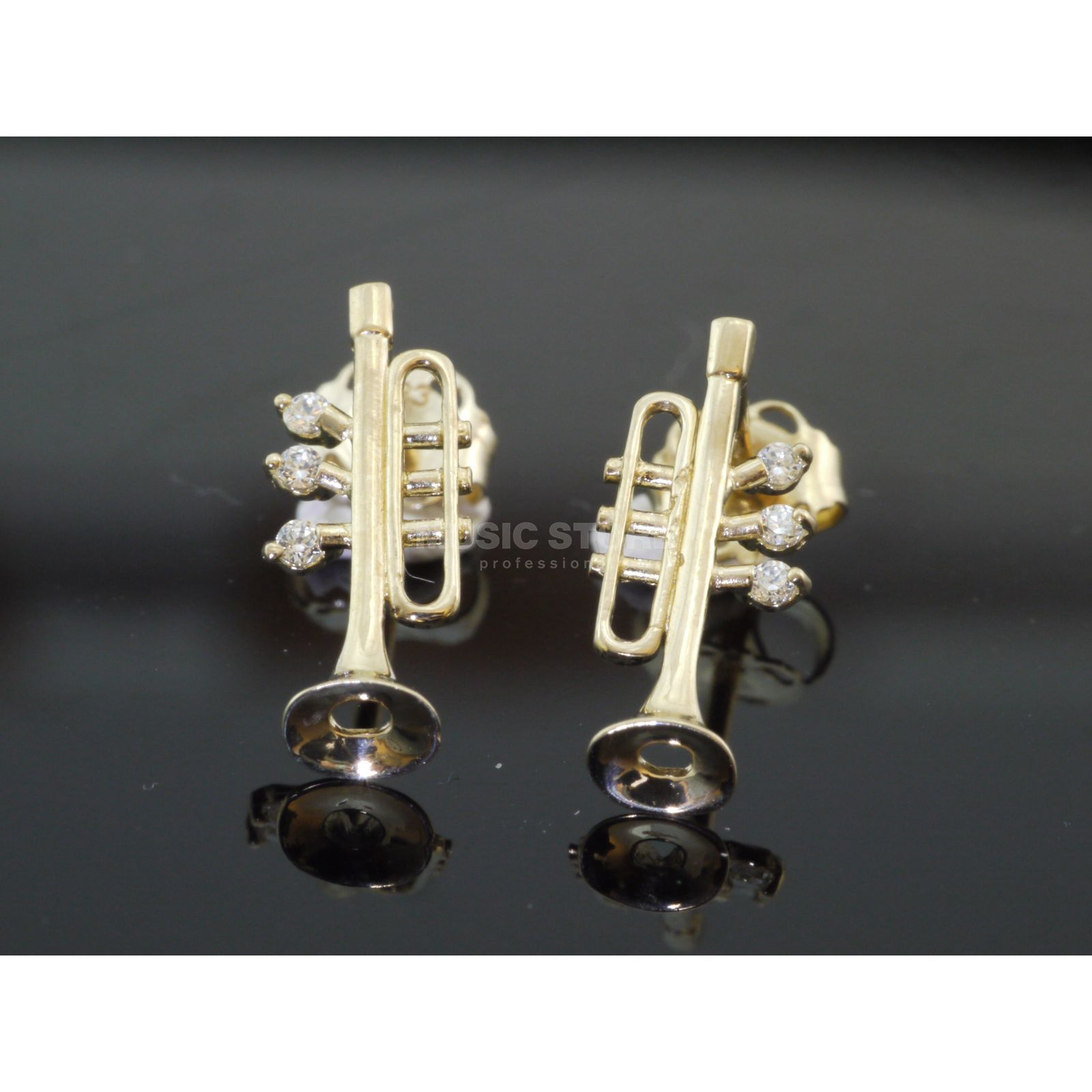 Rockys Earrings Trumpet Gold 333/8 Karat, zirconia Produktbillede