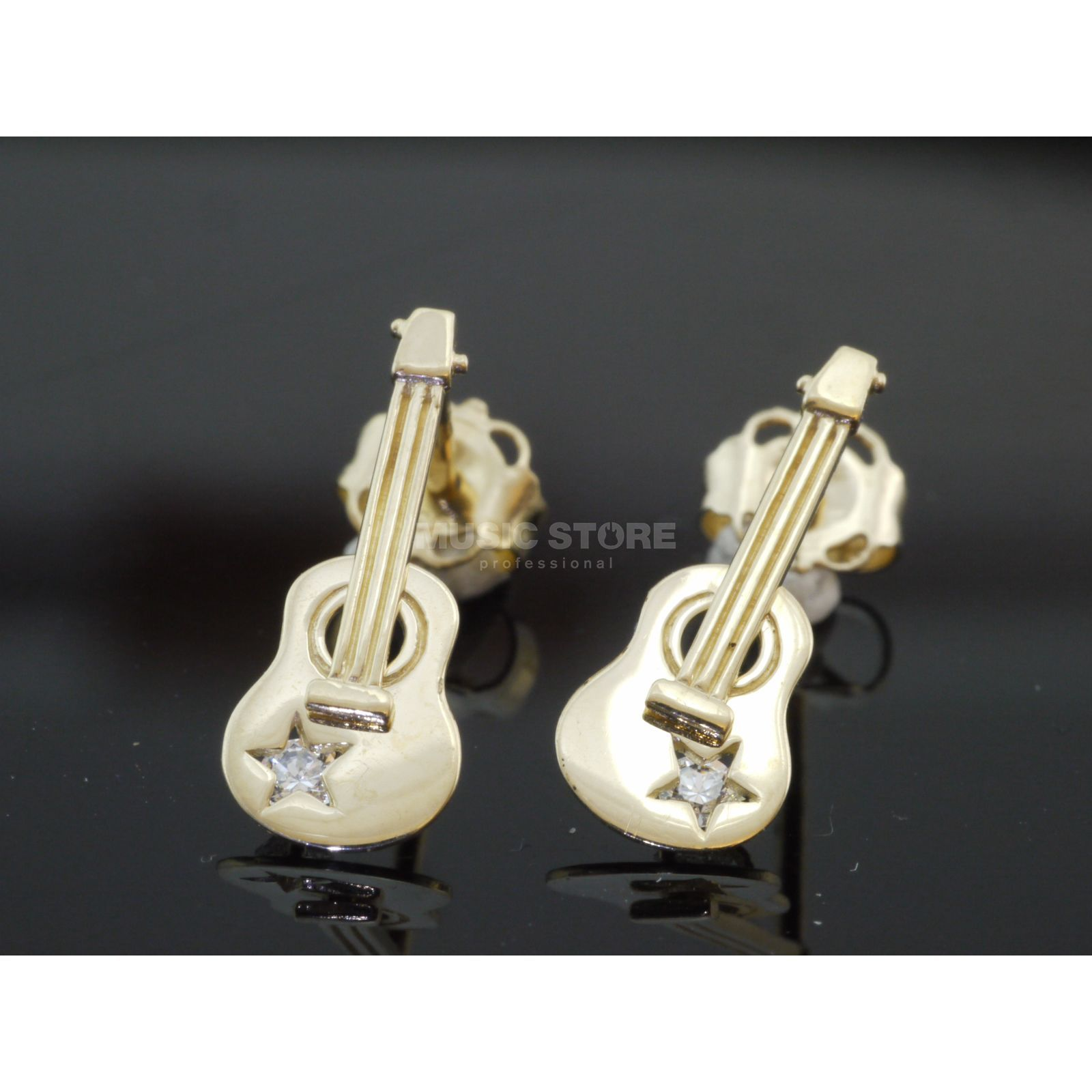 Rockys Earrings Western Guitar Gold 333/8 Karat, zirconia Produktbillede