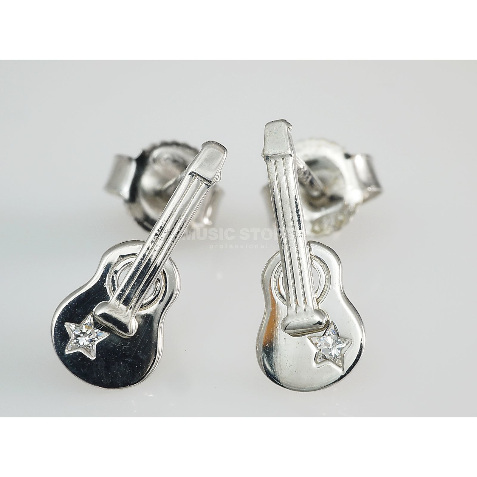 Rockys Earrings Western Guitar Silver 925, zirconia Produktbillede