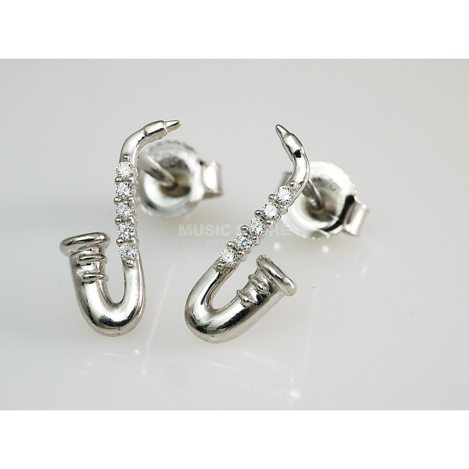 Silber 925  Rockys Ohrstecker Saxophon Silber 925, Zirkonia