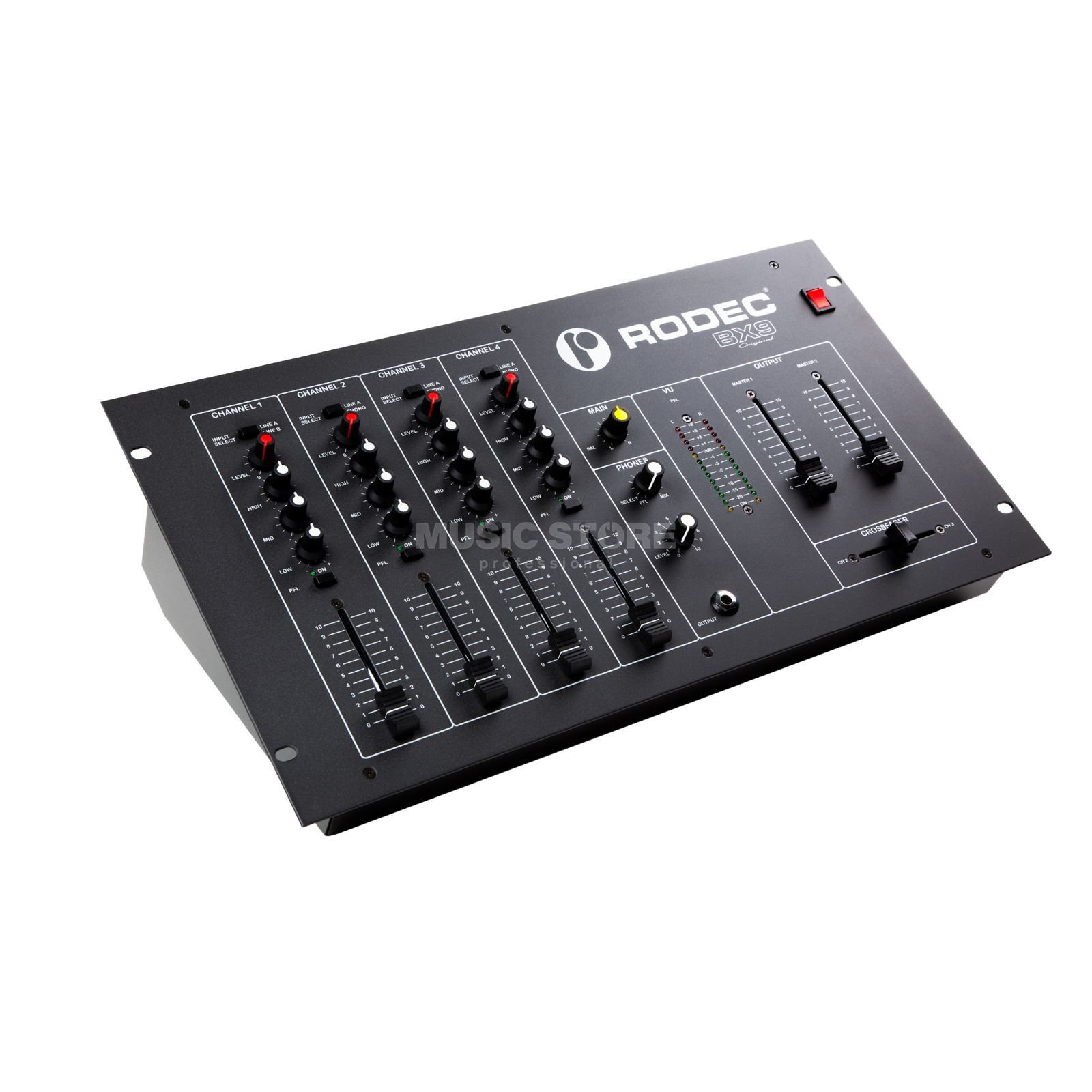 "Rodec BX9 Original 4-Channel Club Mixer, 19"" Produktbillede"