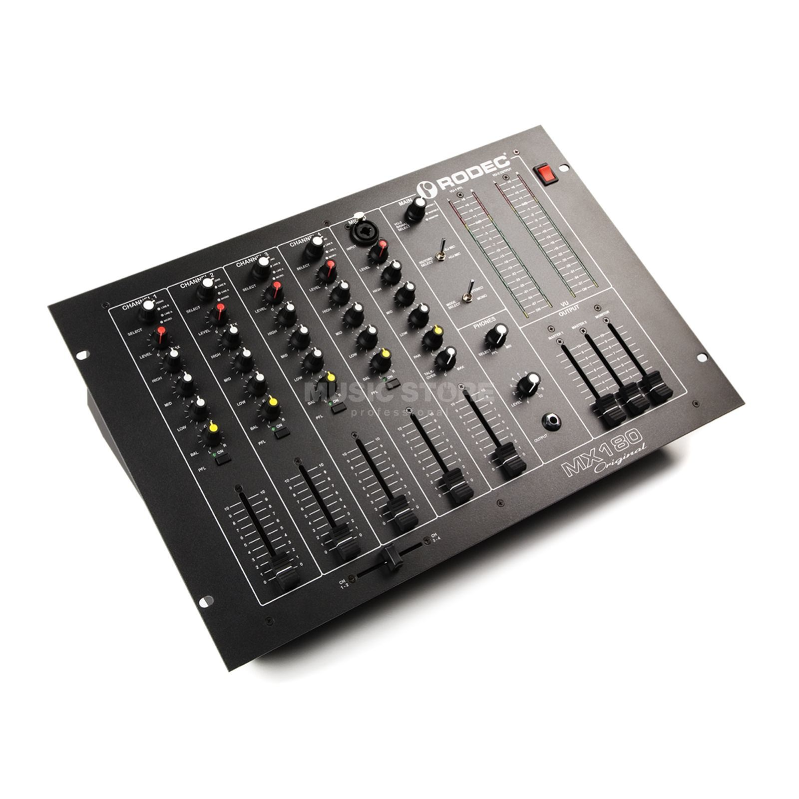 "Rodec MX180 Original 5-Channel 19 "" Rack Dj Mixer Product Image"